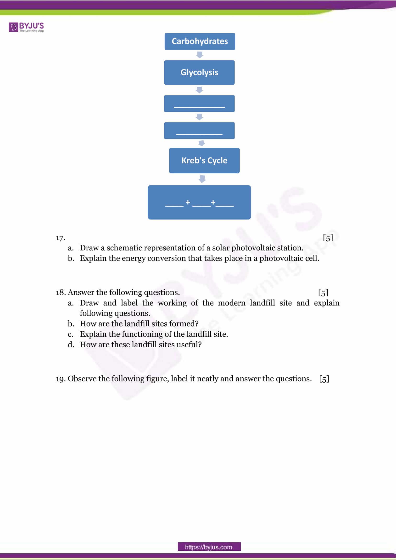 CBSE Class 10 Science Sample Paper Set 1-6