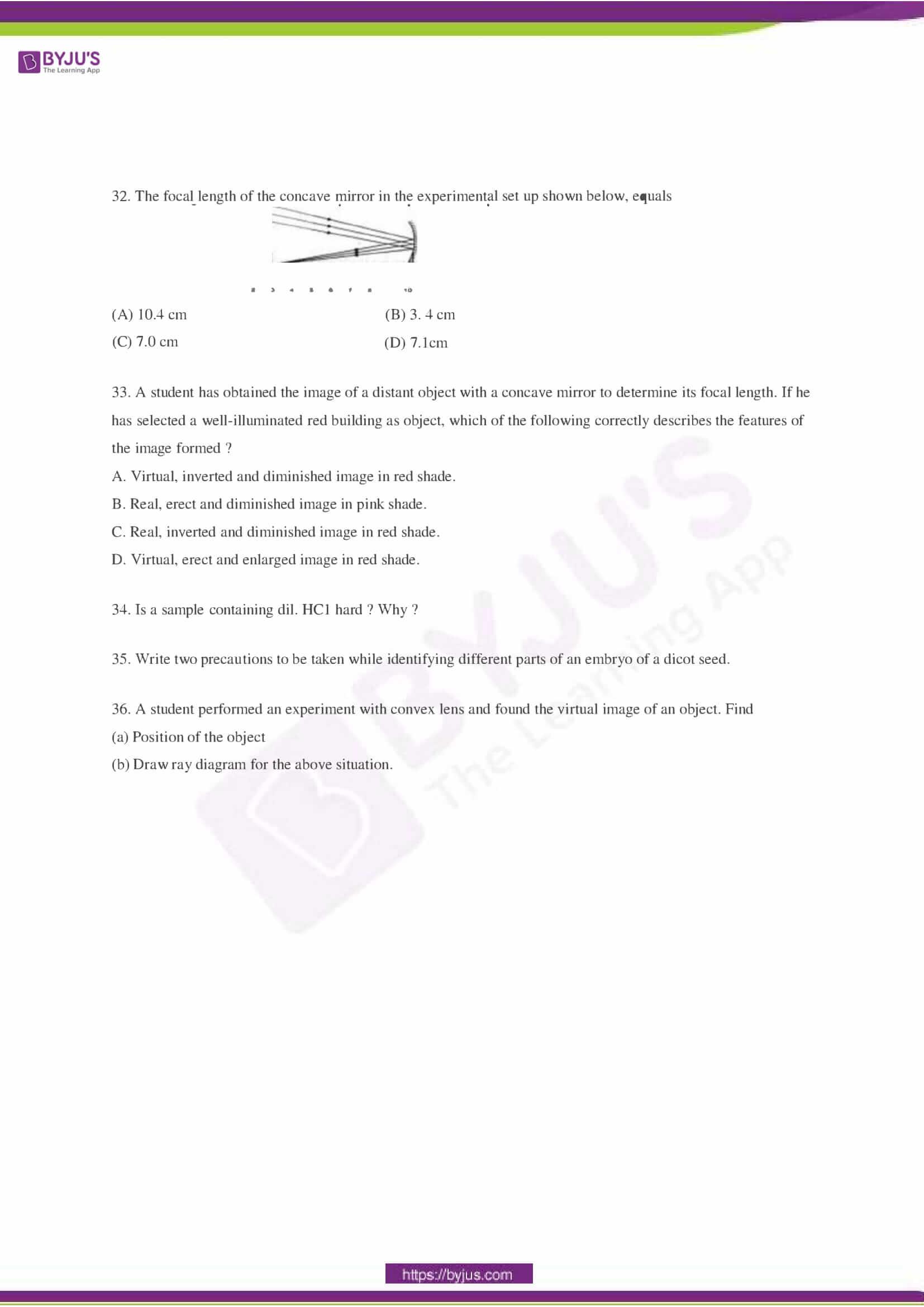 CBSE Class 10 Science Sample Paper Set 2-6