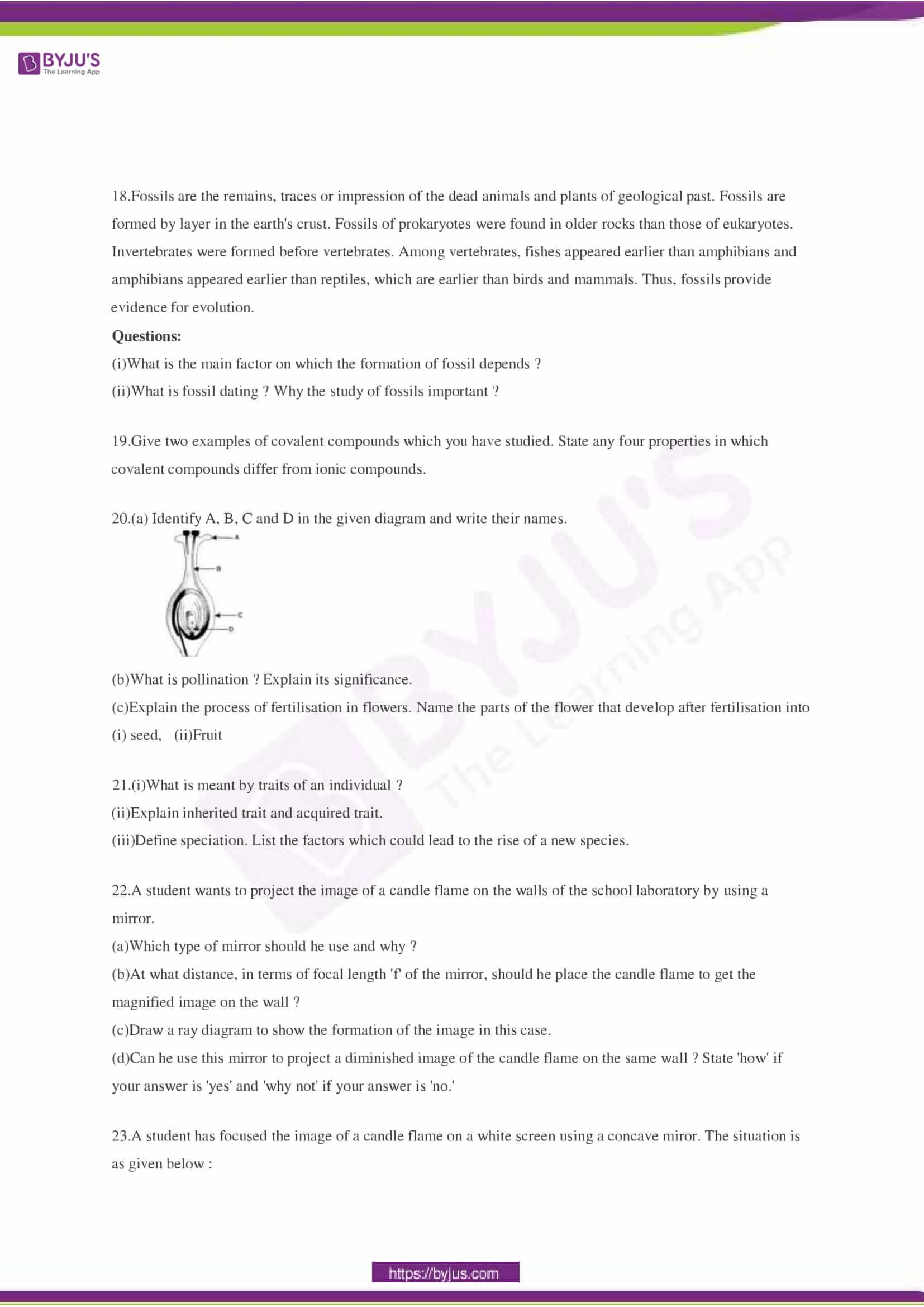 CBSE Class 10 Science Sample Paper Set 3-3