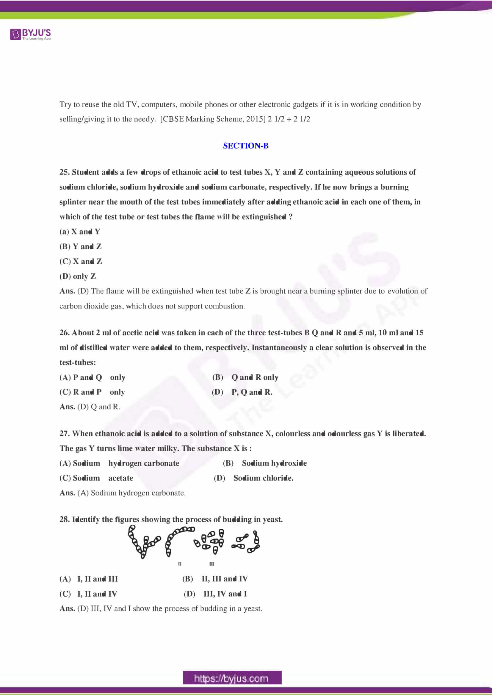CBSE Class 10 Science Sample Paper Solution Set 2-10