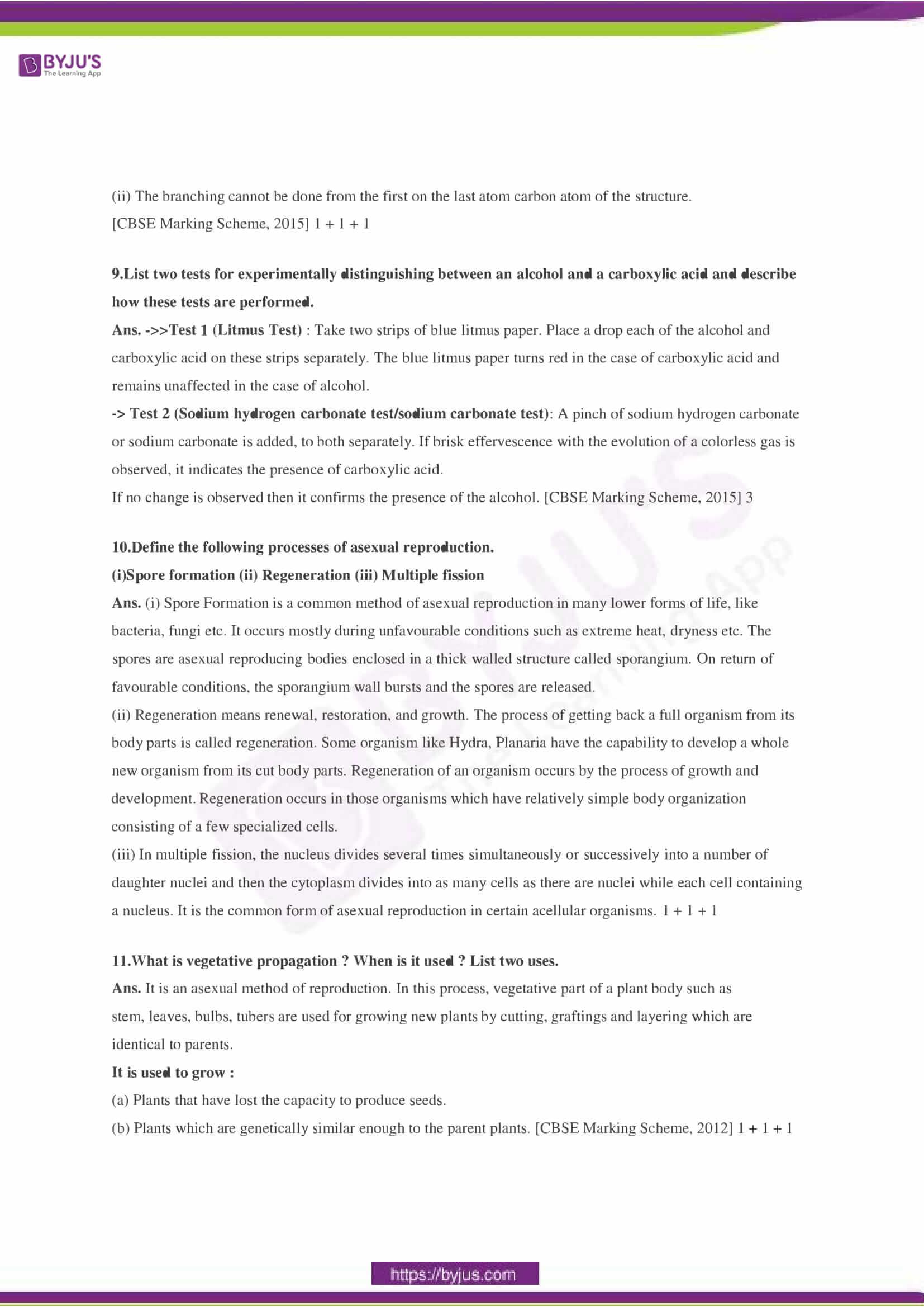 CBSE Class 10 Science Sample Paper Solution Set 3-03