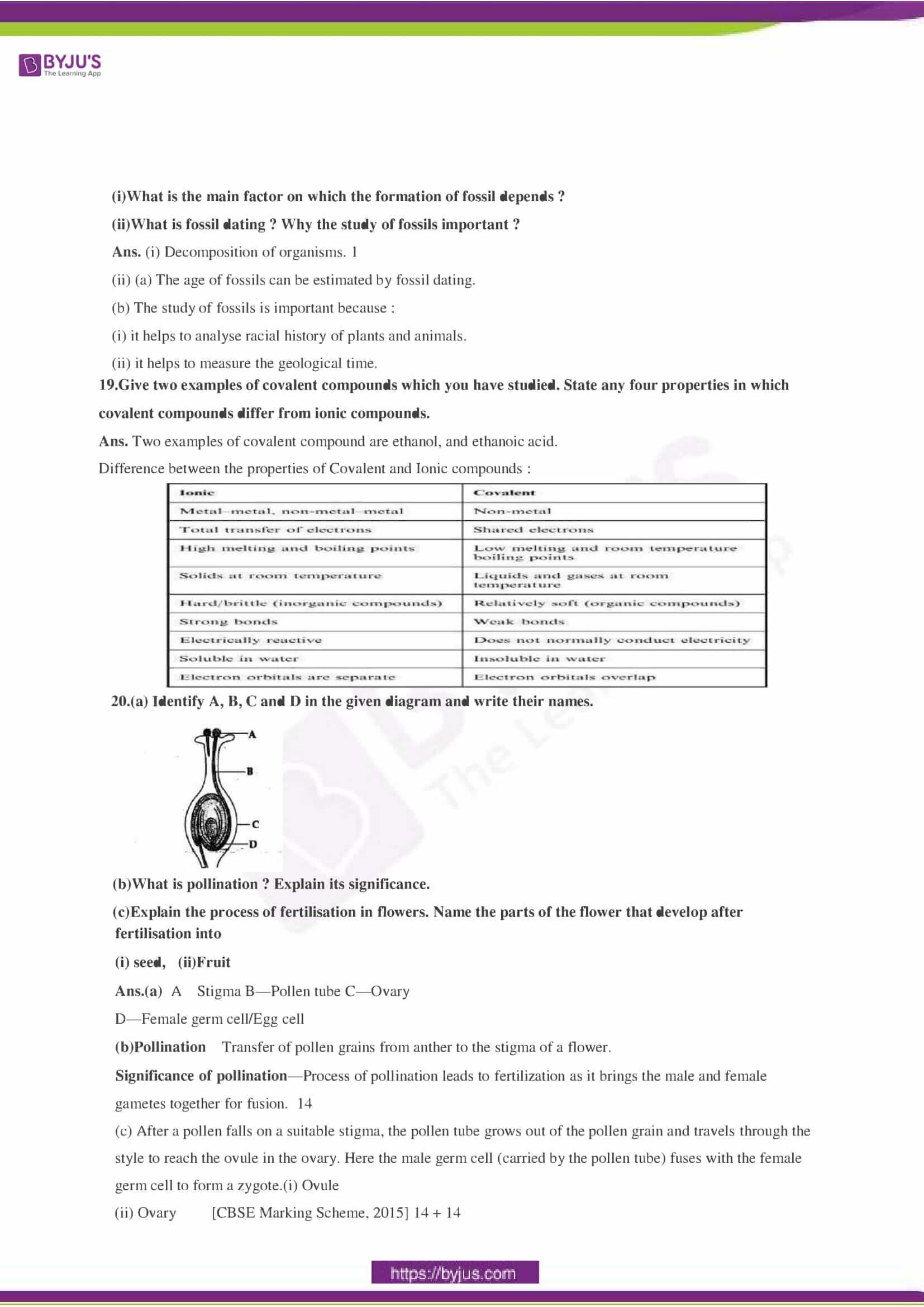 CBSE Class 10 Science Sample Paper Solution Set 3-06
