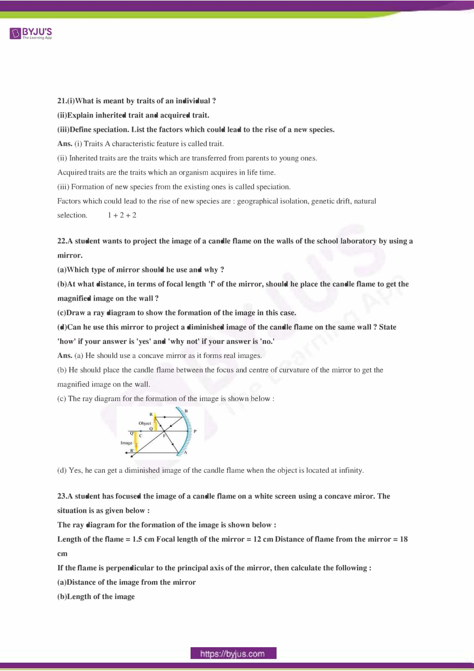 CBSE Class 10 Science Sample Paper Solution Set 3-07