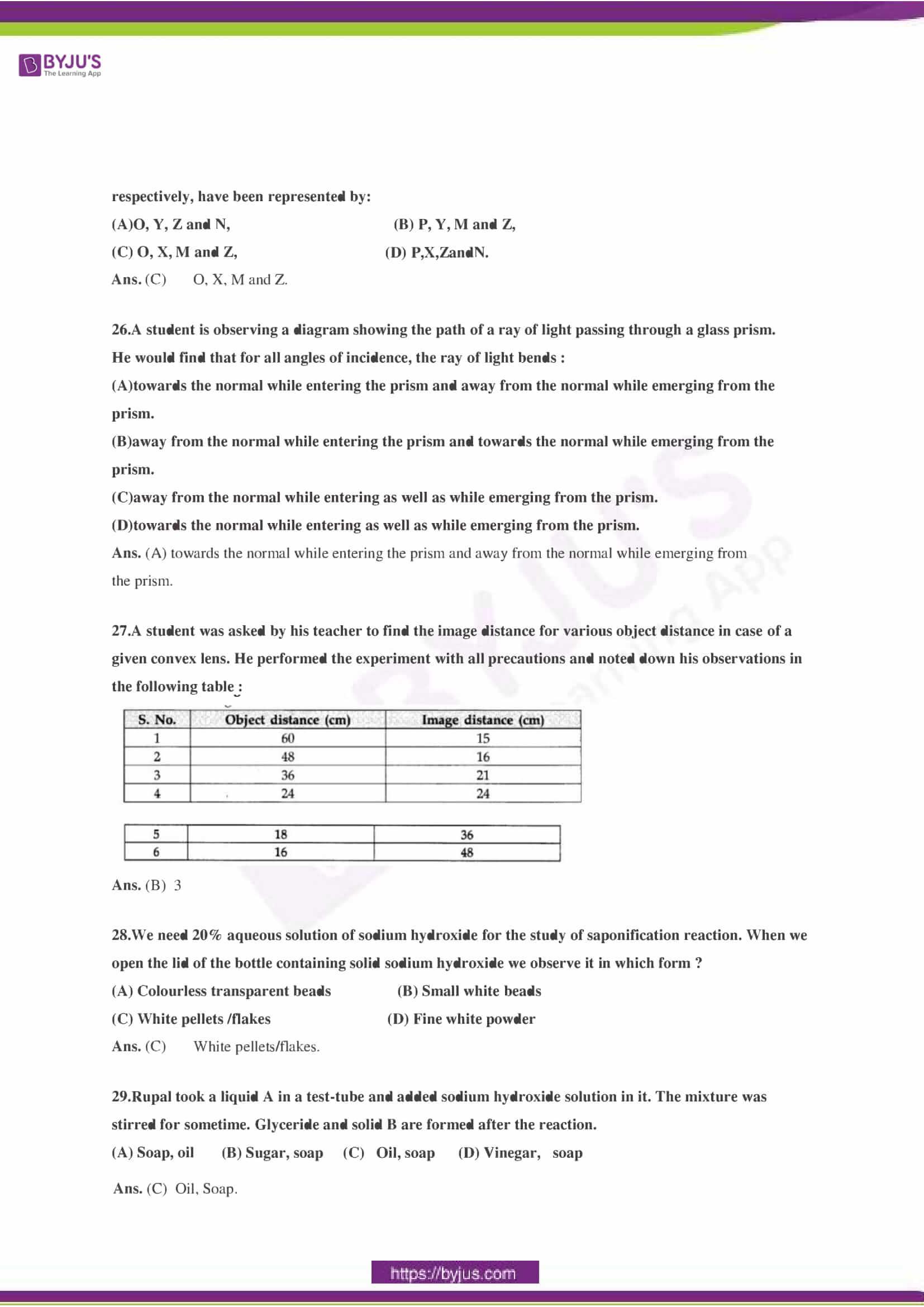 CBSE Class 10 Science Sample Paper Solution Set 3-09