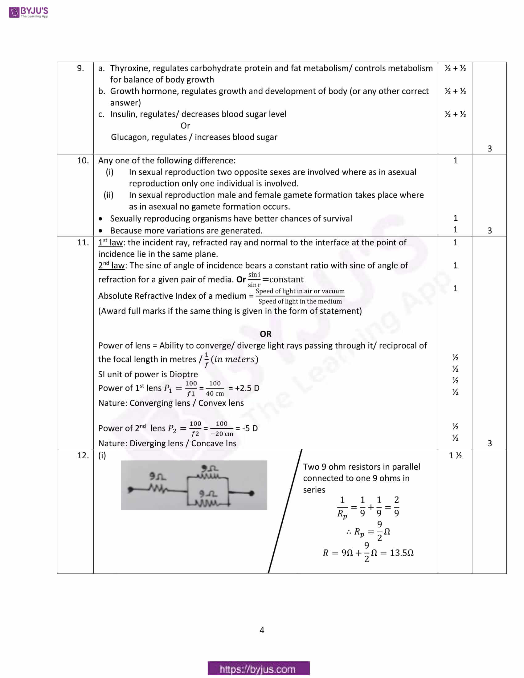 cbse class 10 science solutions 2018