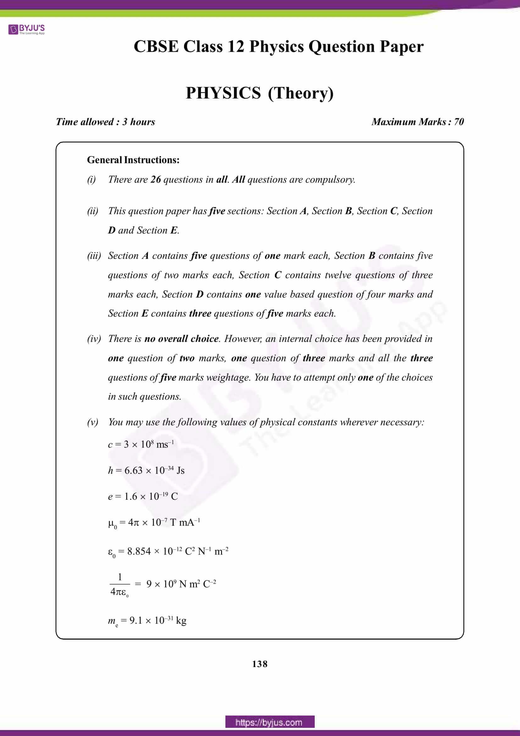cbse class 12 phy 2015 question paper set 1