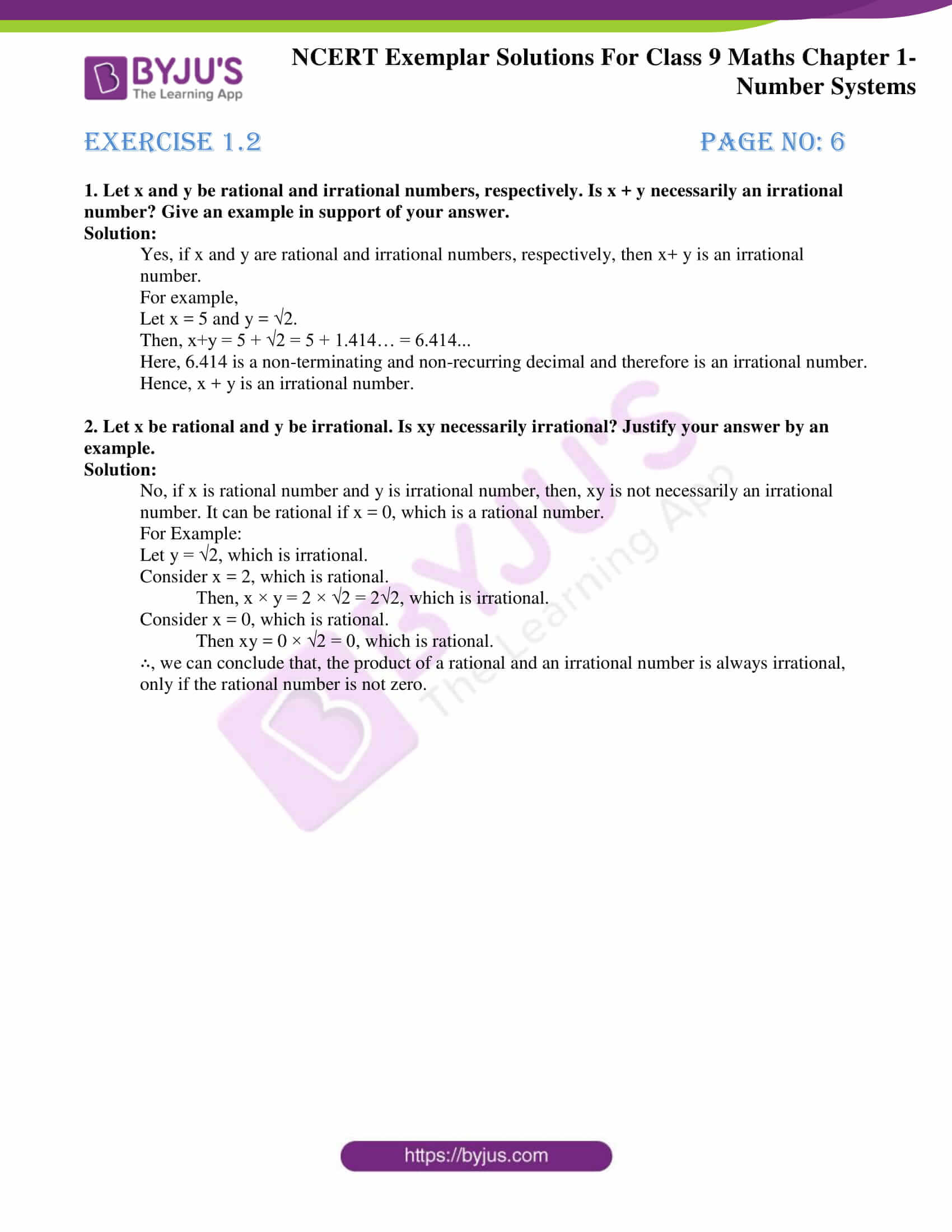 NCERT Exemplar Solutions for Class 9 Maths Chapter 1 05