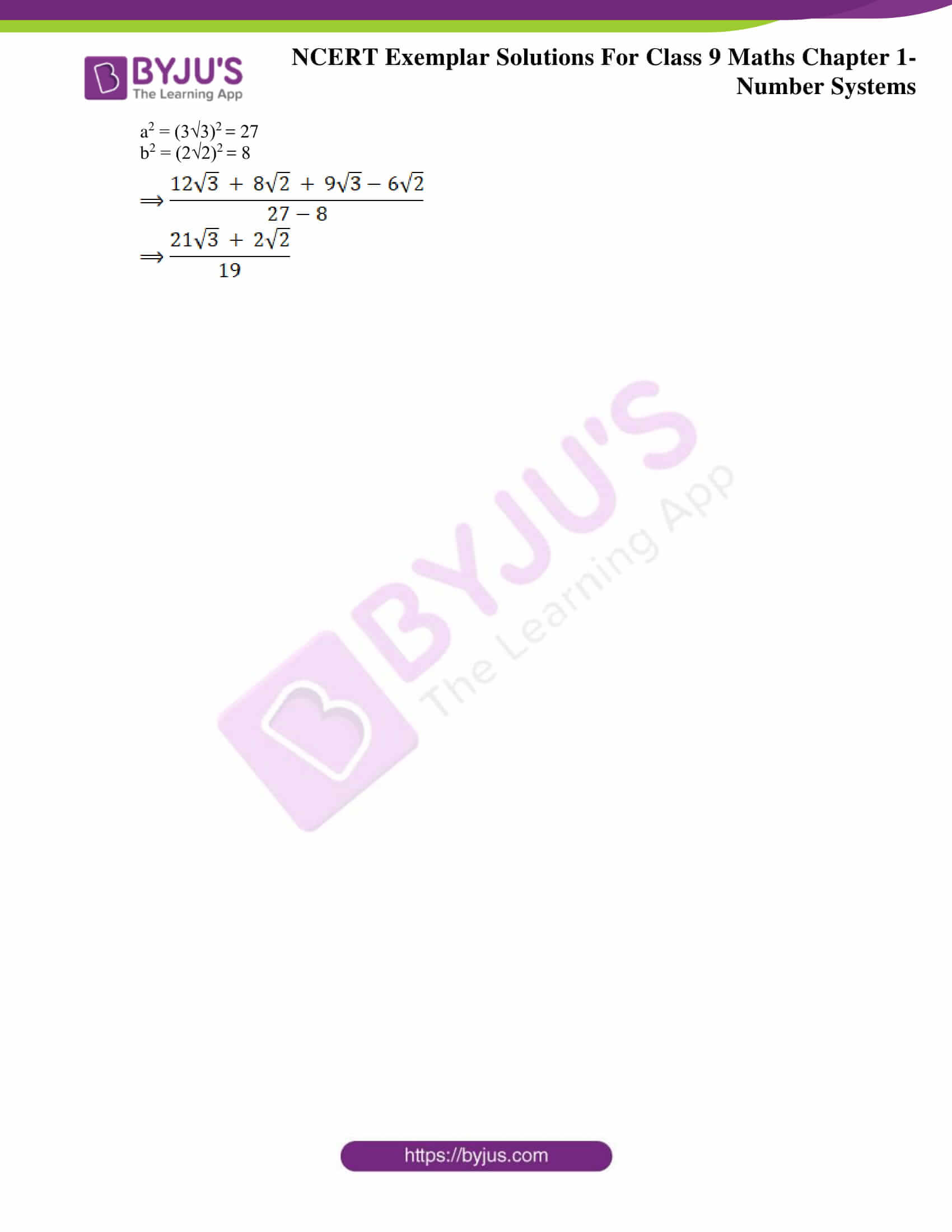 NCERT Exemplar Solutions for Class 9 Maths Chapter 1 18