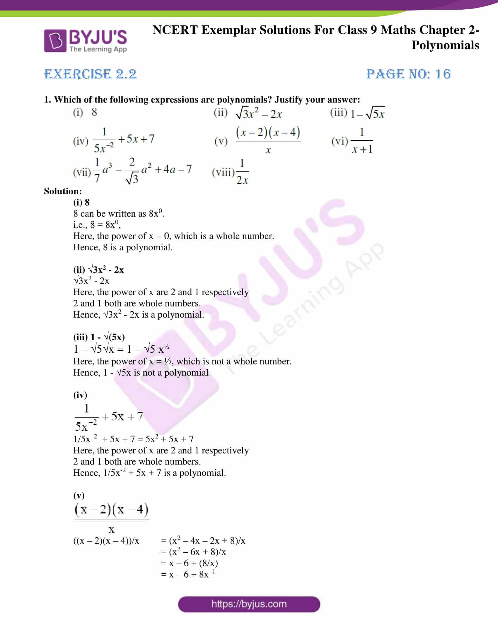 NCERT Exemplar Solutions for Class 9 Maths Chapter 2 06