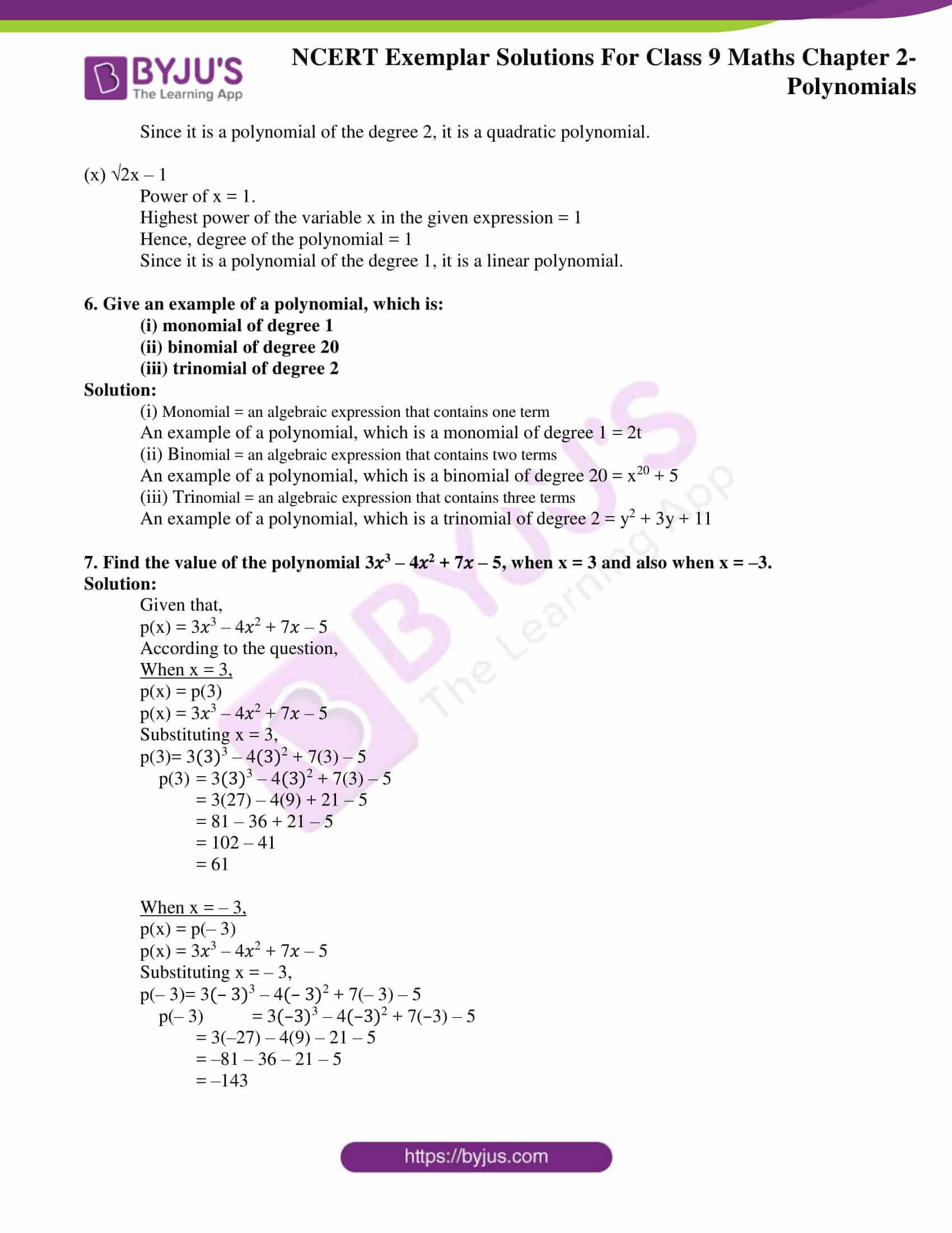 NCERT Exemplar Solutions for Class 9 Maths Chapter 2 12