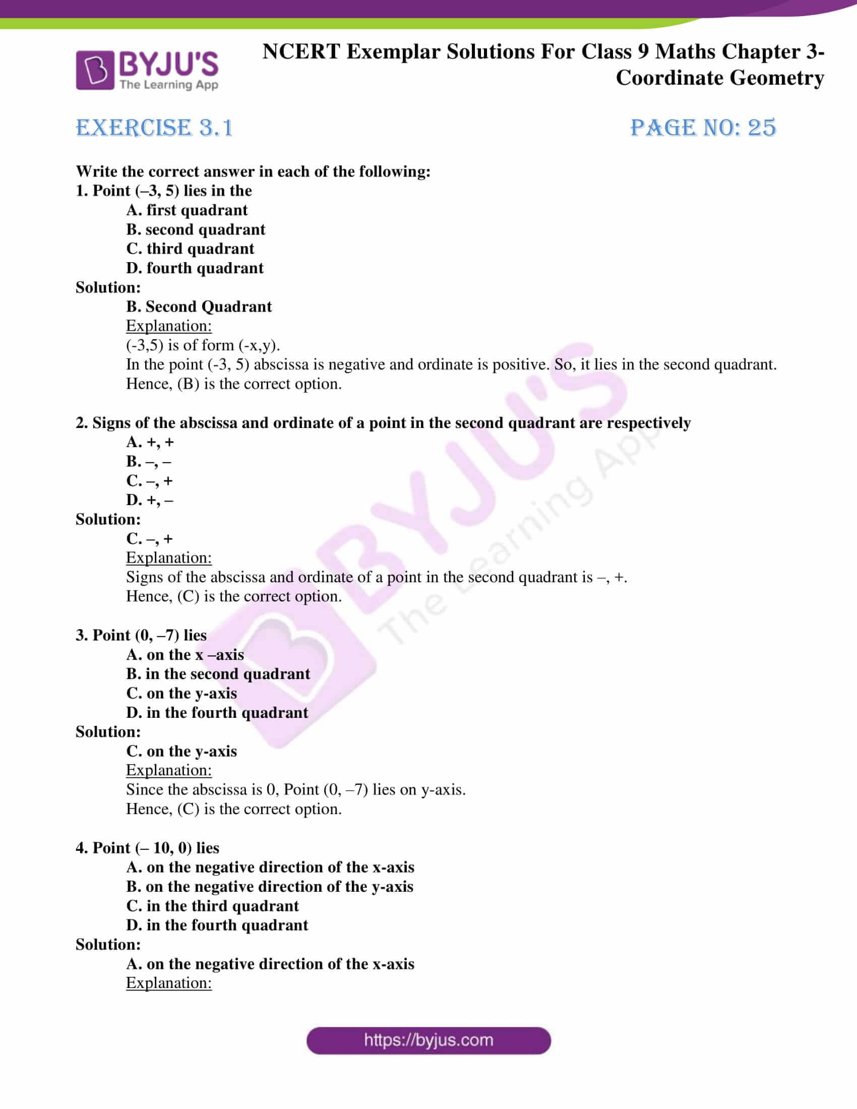 NCERT Exemplar Solutions for Class 9 Maths Chapter 3 01
