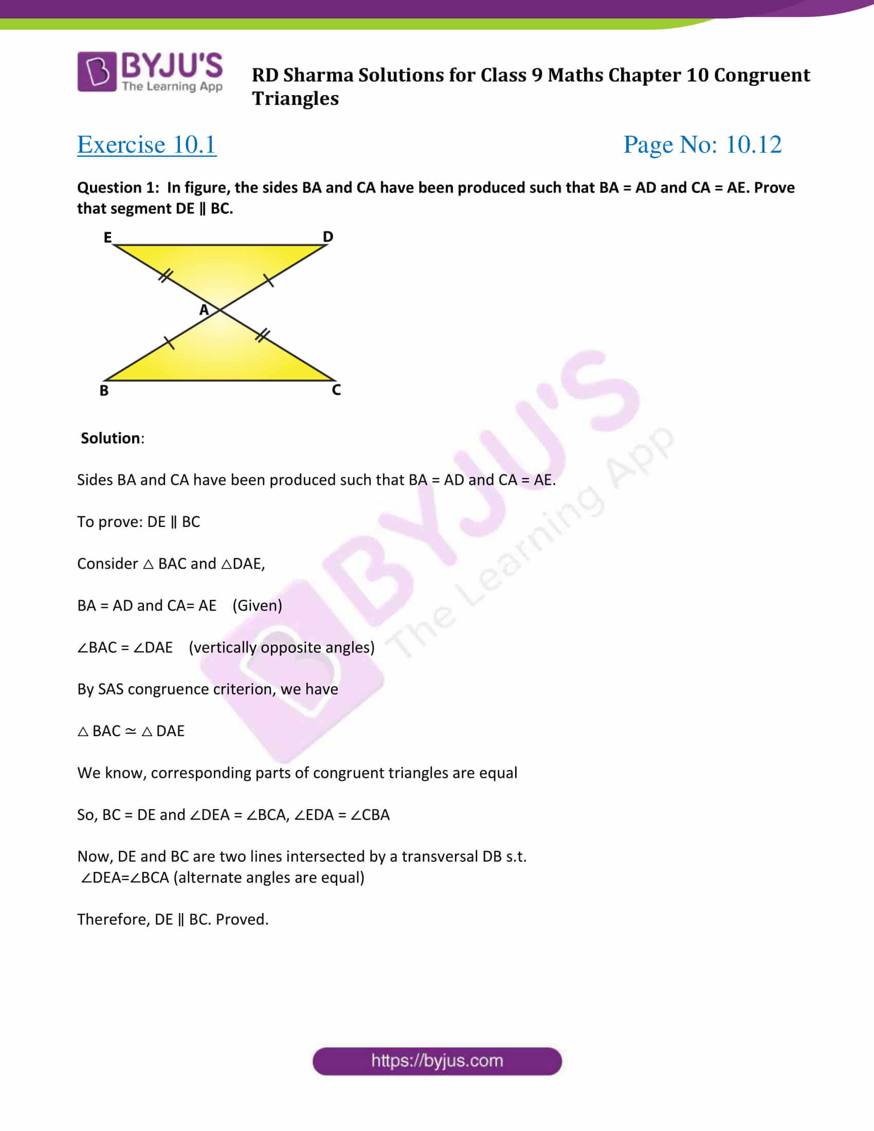 rd sharma class 9 maths chapter 10A