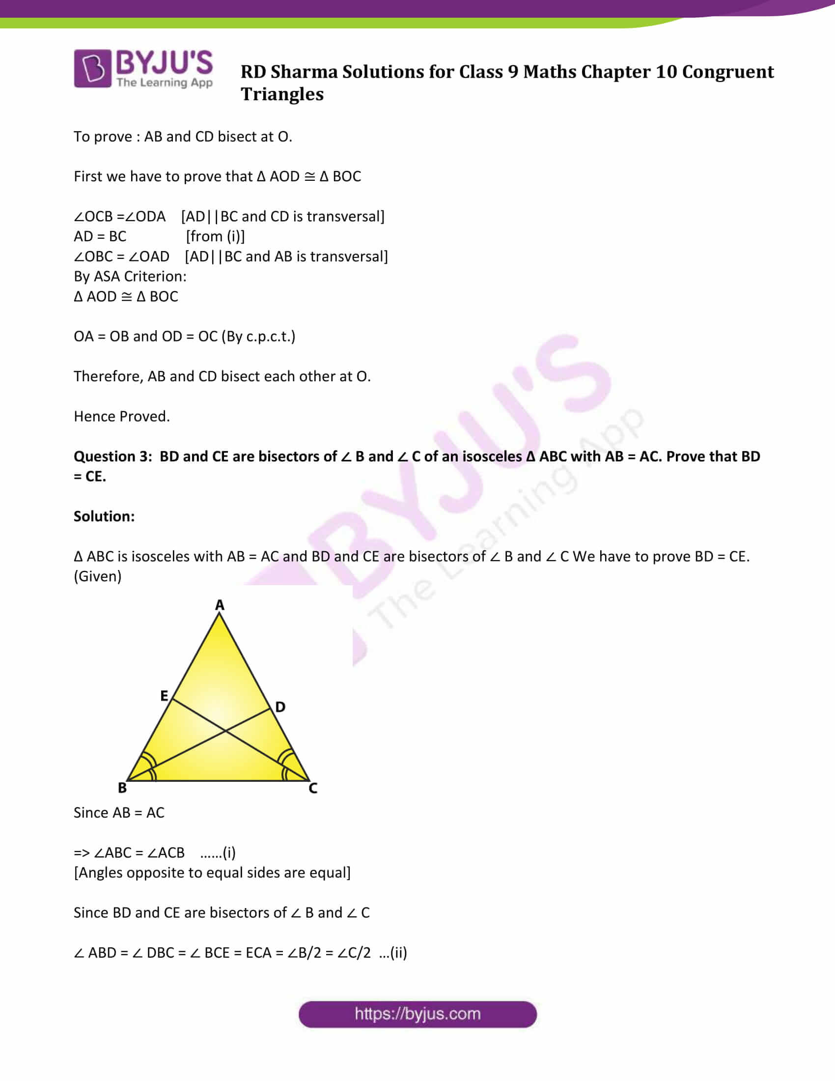 rd sharma class 9 maths chapter 10B