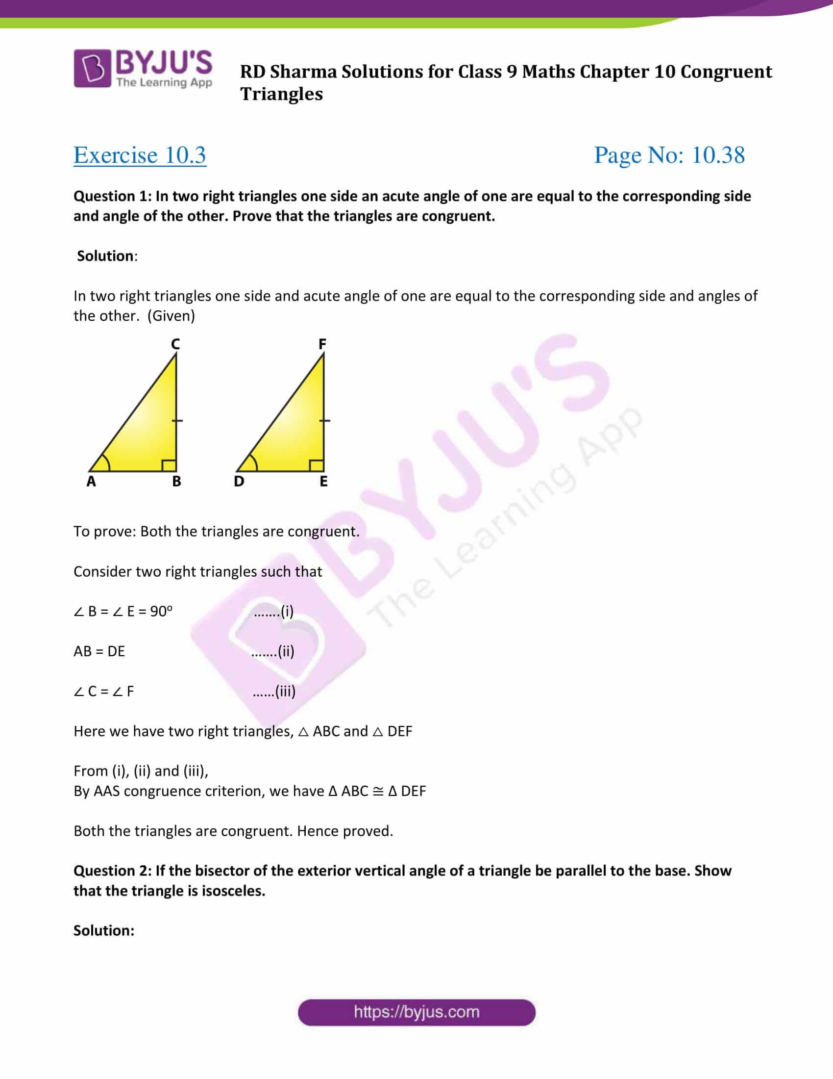 rd sharma class 9 maths chapter 10C