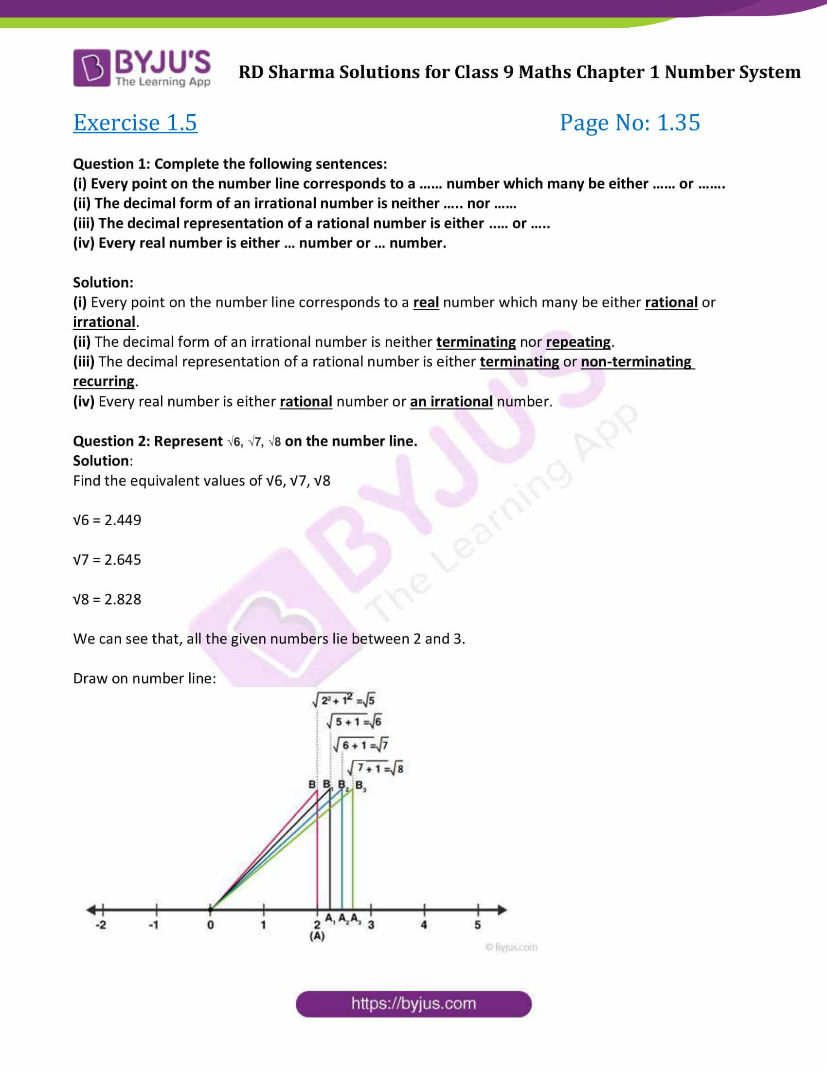 RD Sharma Solution class 9 Maths Chapter 1 Number System 20