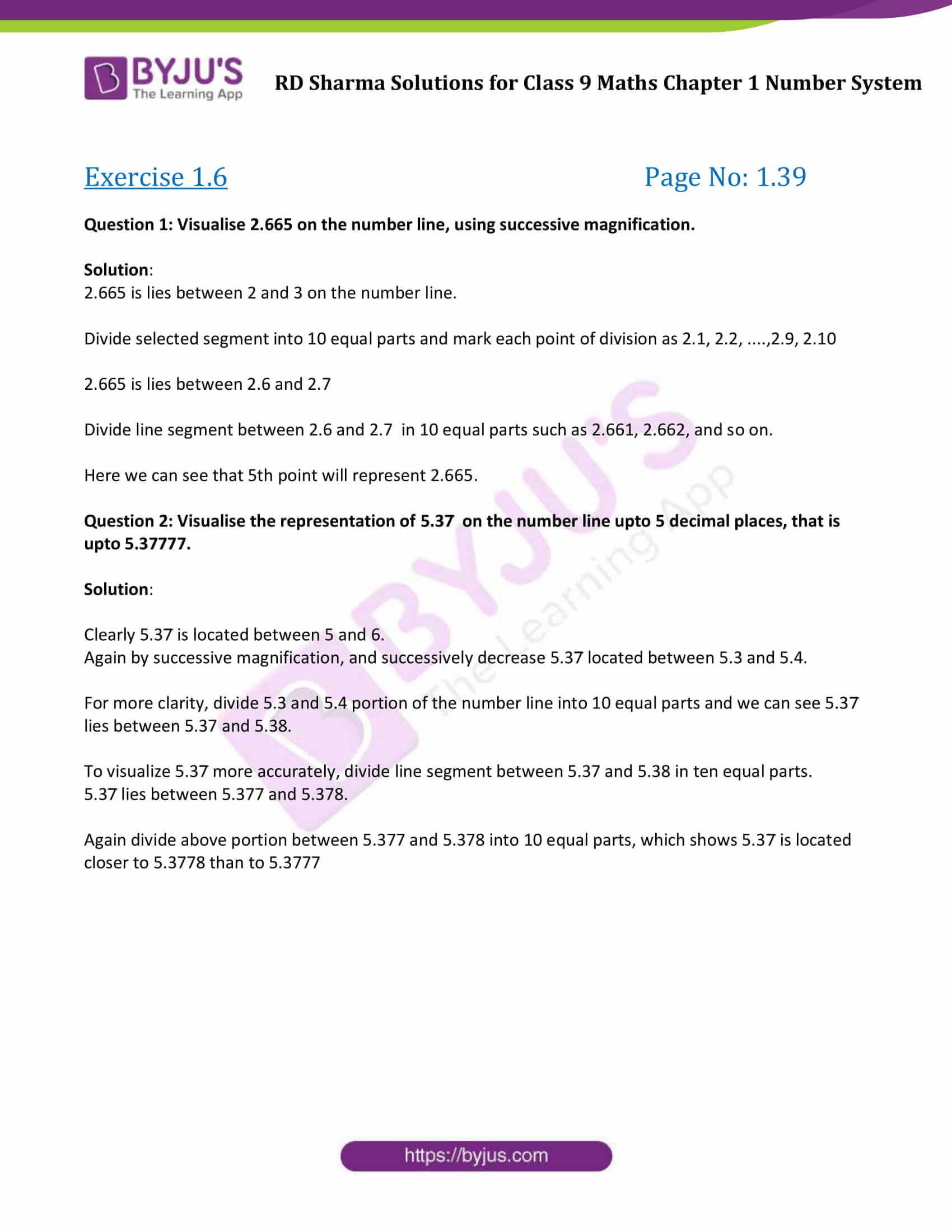 RD Sharma Solution class 9 Maths Chapter 1 Number System 24