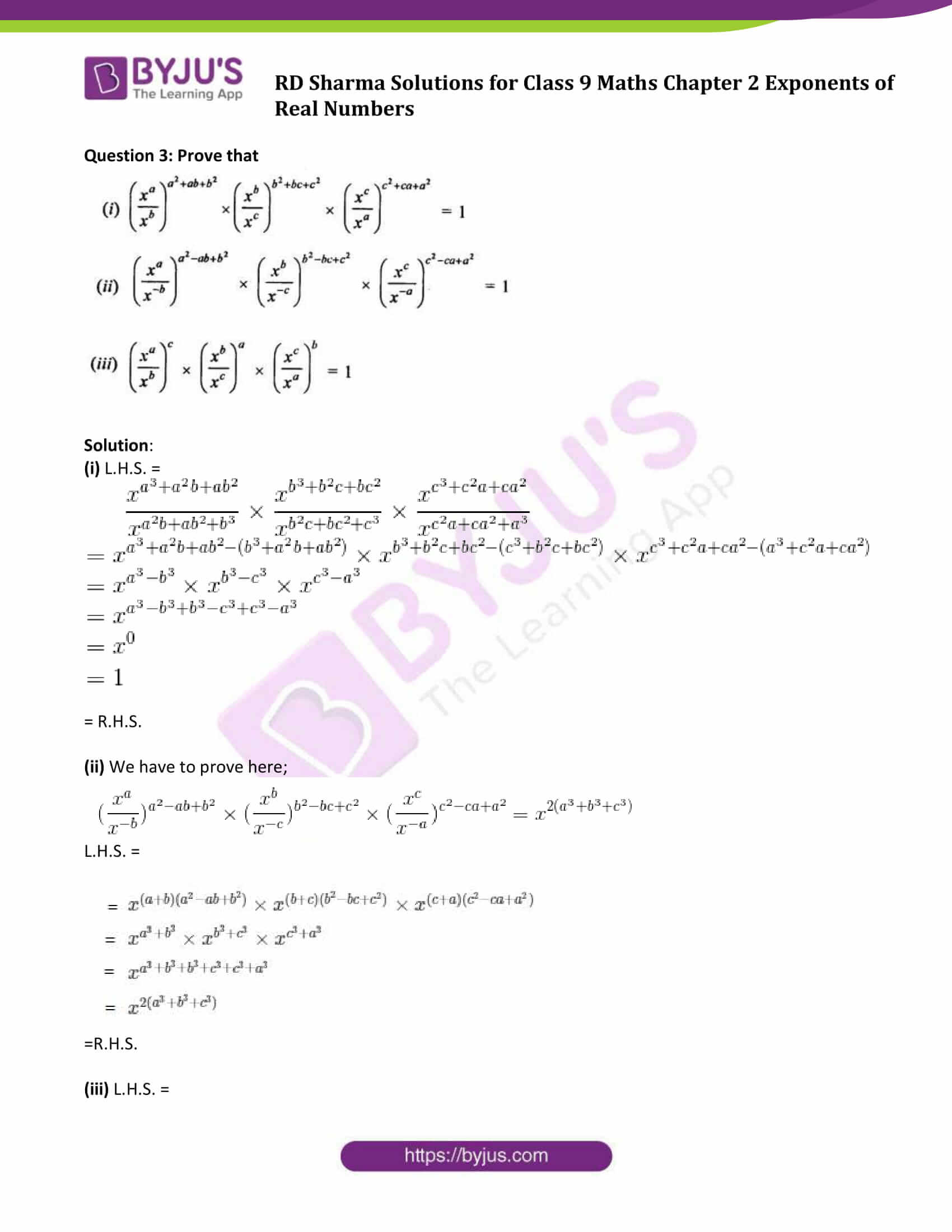 RD Sharma Solution class 9 Maths Chapter 2 Exponents of Real Numbers 04