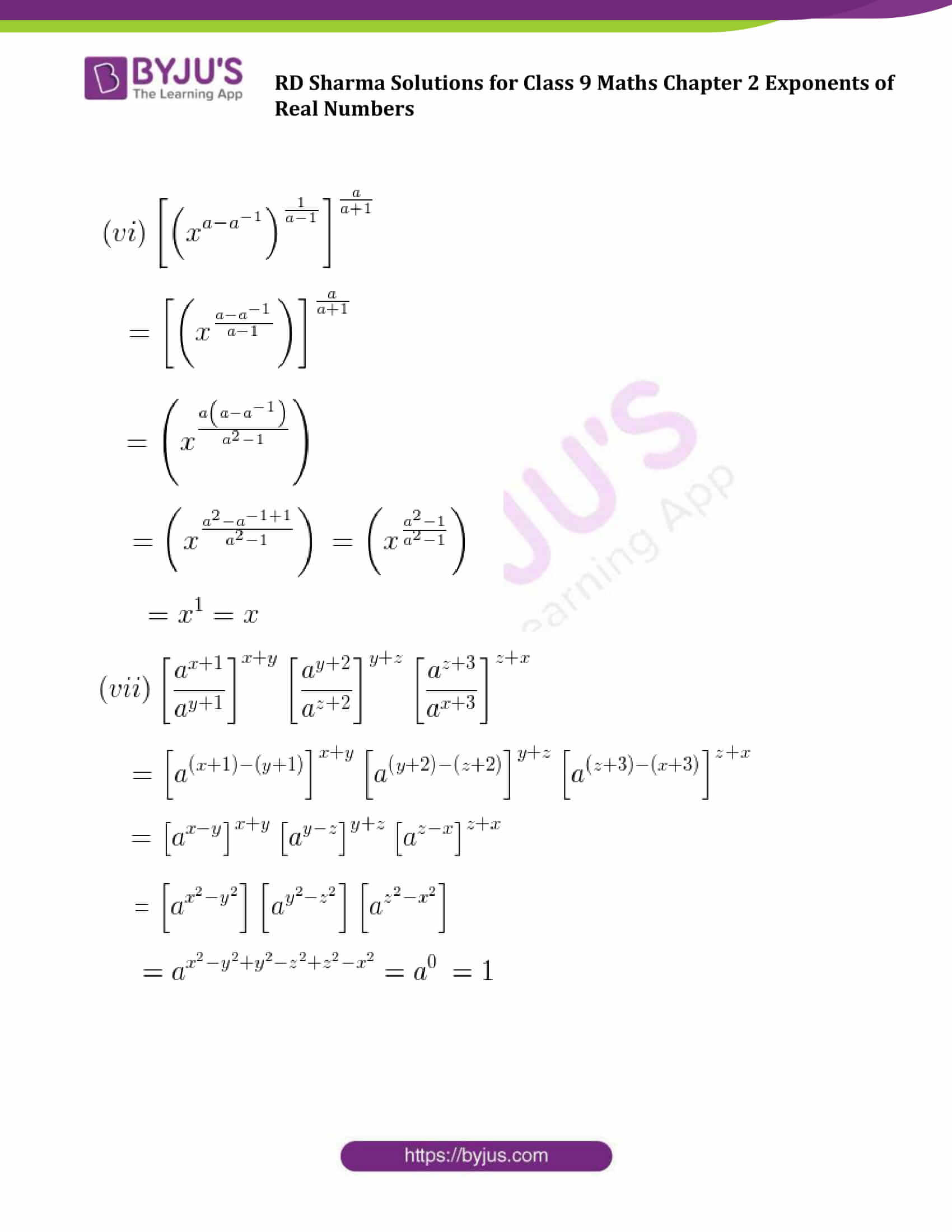 RD Sharma Solution class 9 Maths Chapter 2 Exponents of Real Numbers 24