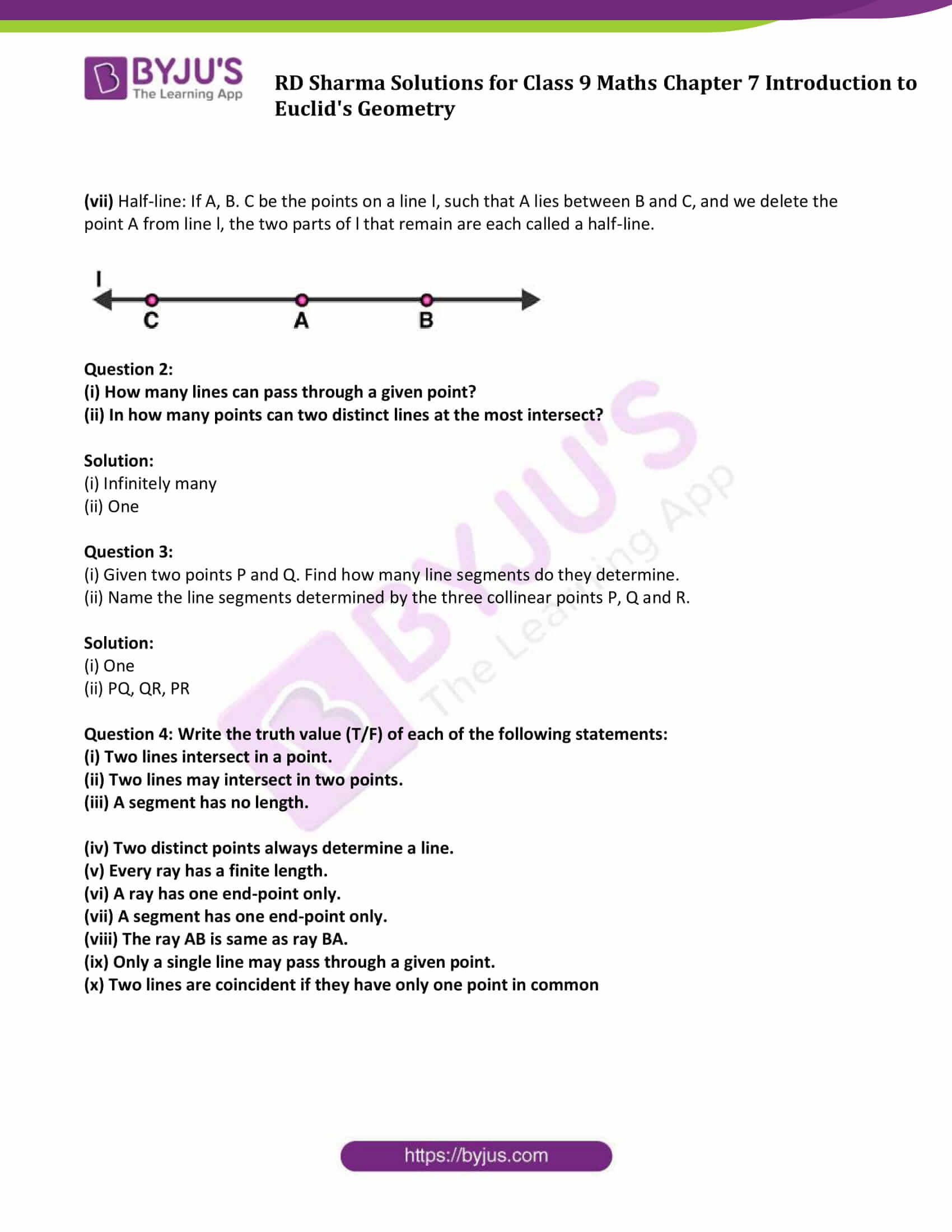 RD Sharma Solution class 9 Maths Chapter 7 Introduction to Euclids Geometry 3