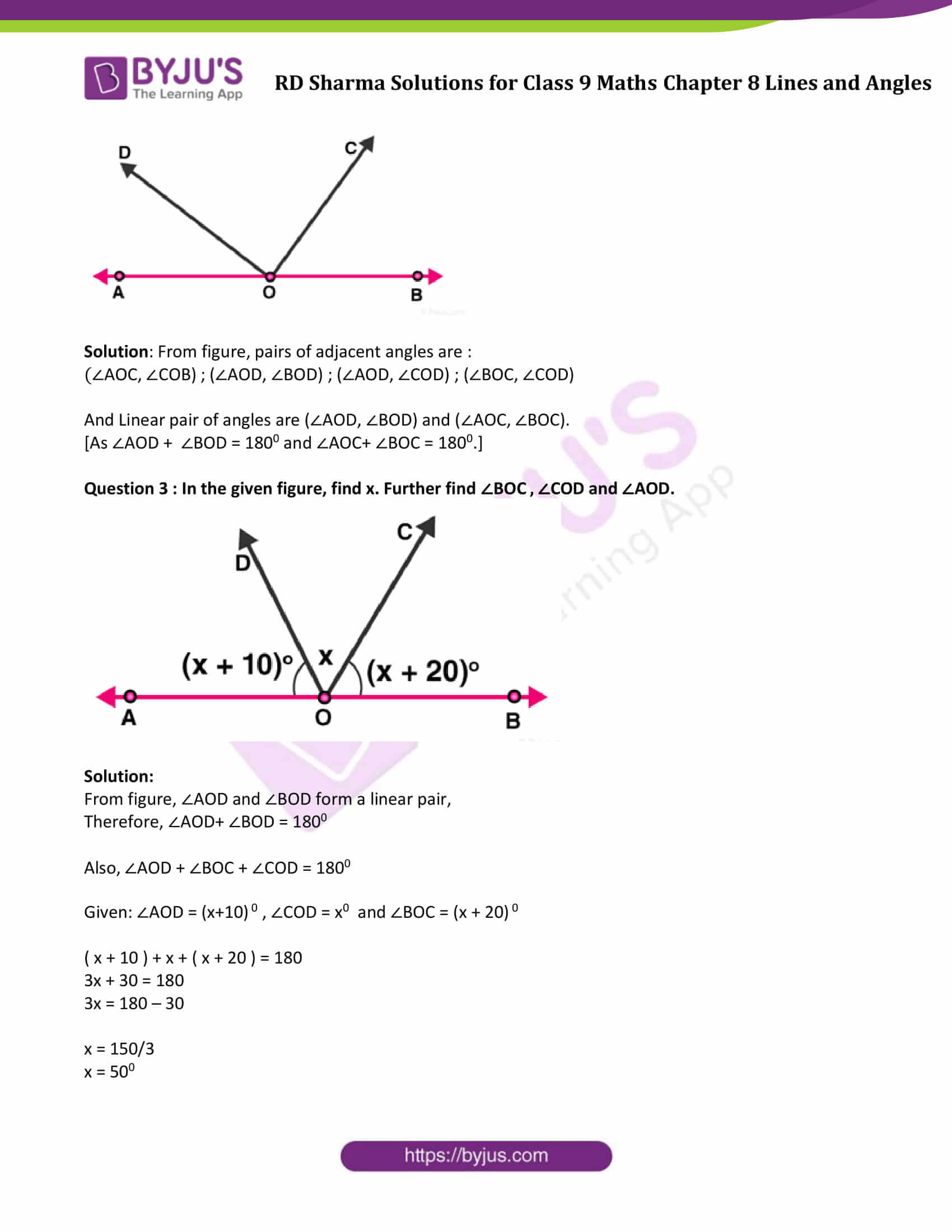 RD Sharma Solution class 9 Maths Chapter 8 Lines and Angles 05