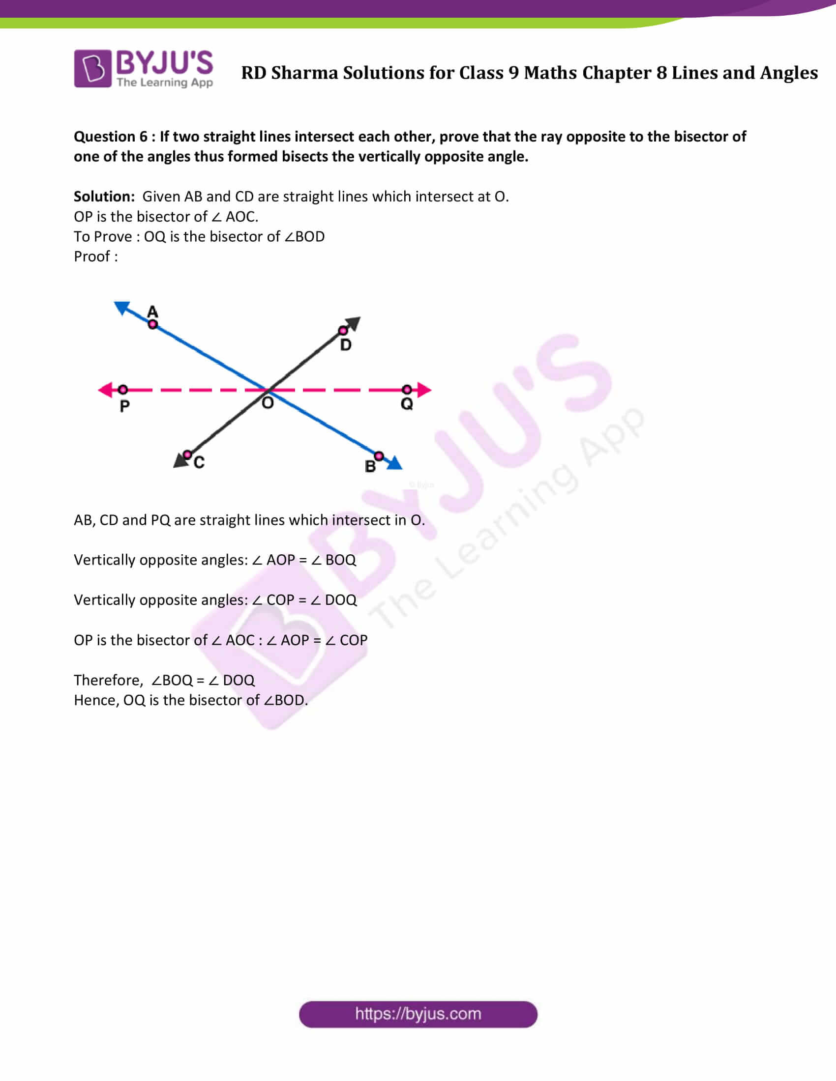 RD Sharma Solution class 9 Maths Chapter 8 Lines and Angles 15