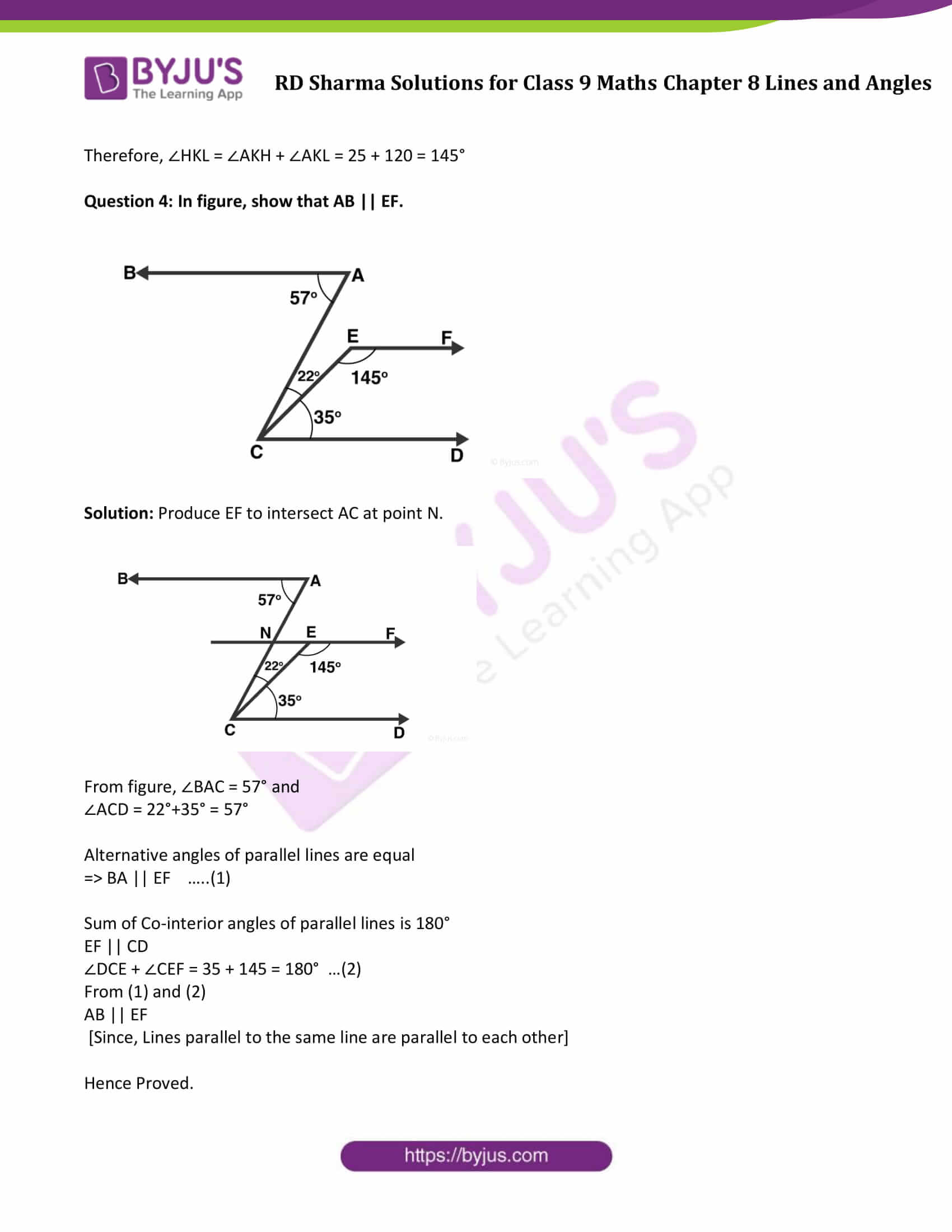 RD Sharma Solution class 9 Maths Chapter 8 Lines and Angles 19