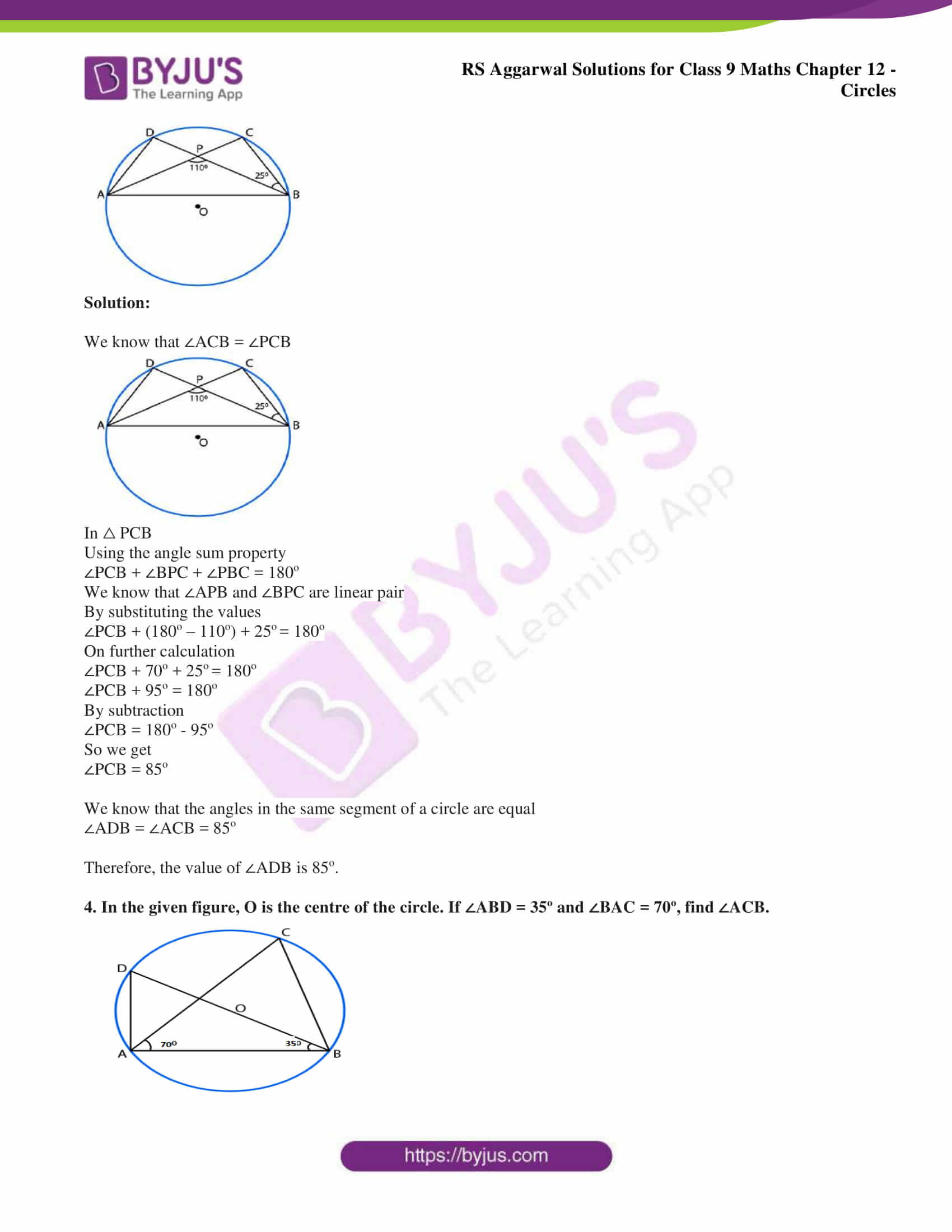 RS Aggarwal Solutions Class 9 Maths Chapter 12