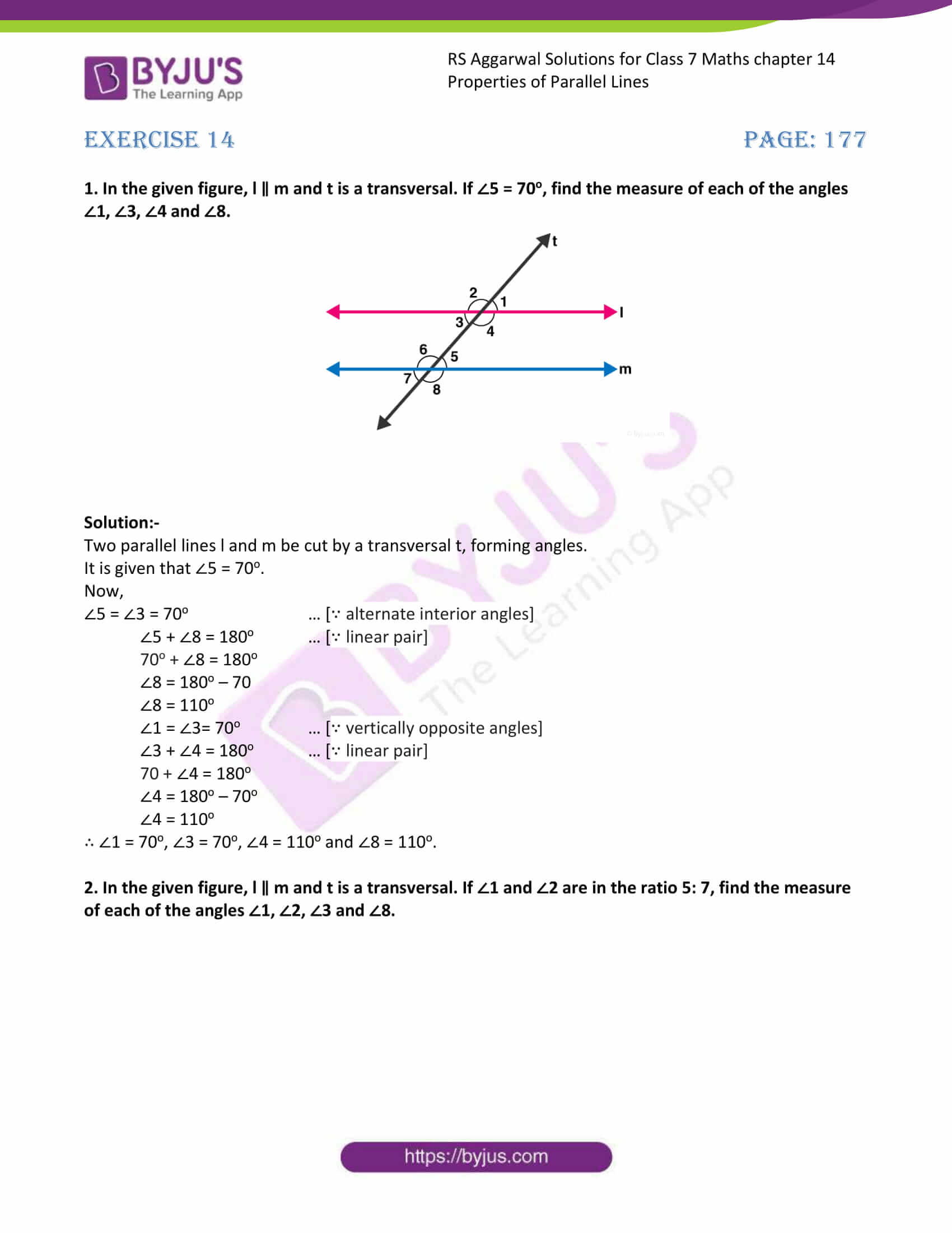 RS Aggarwal Solutions Class 7 Maths Chapter 14 Free Solutions 1
