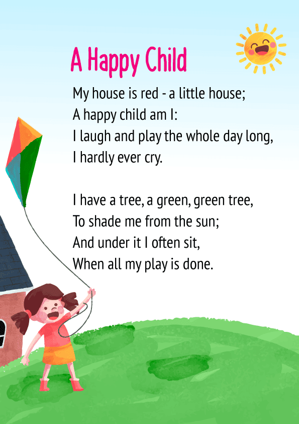 A Happy Child Poem for Class 1