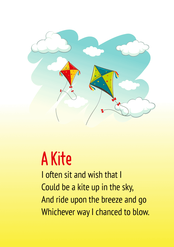 A Kite Poem for Class 1