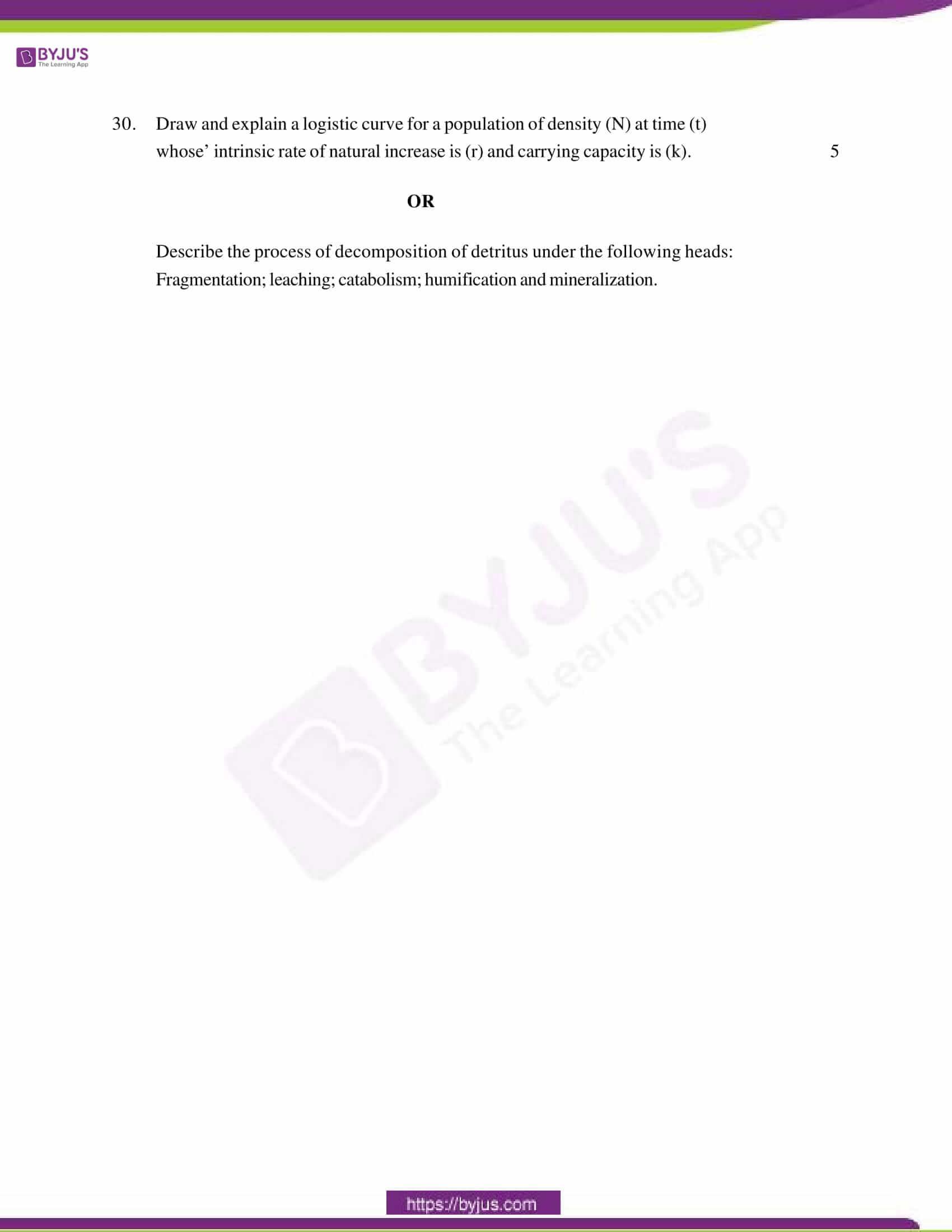 cbse class 12 qs paper 2013 bio set 1