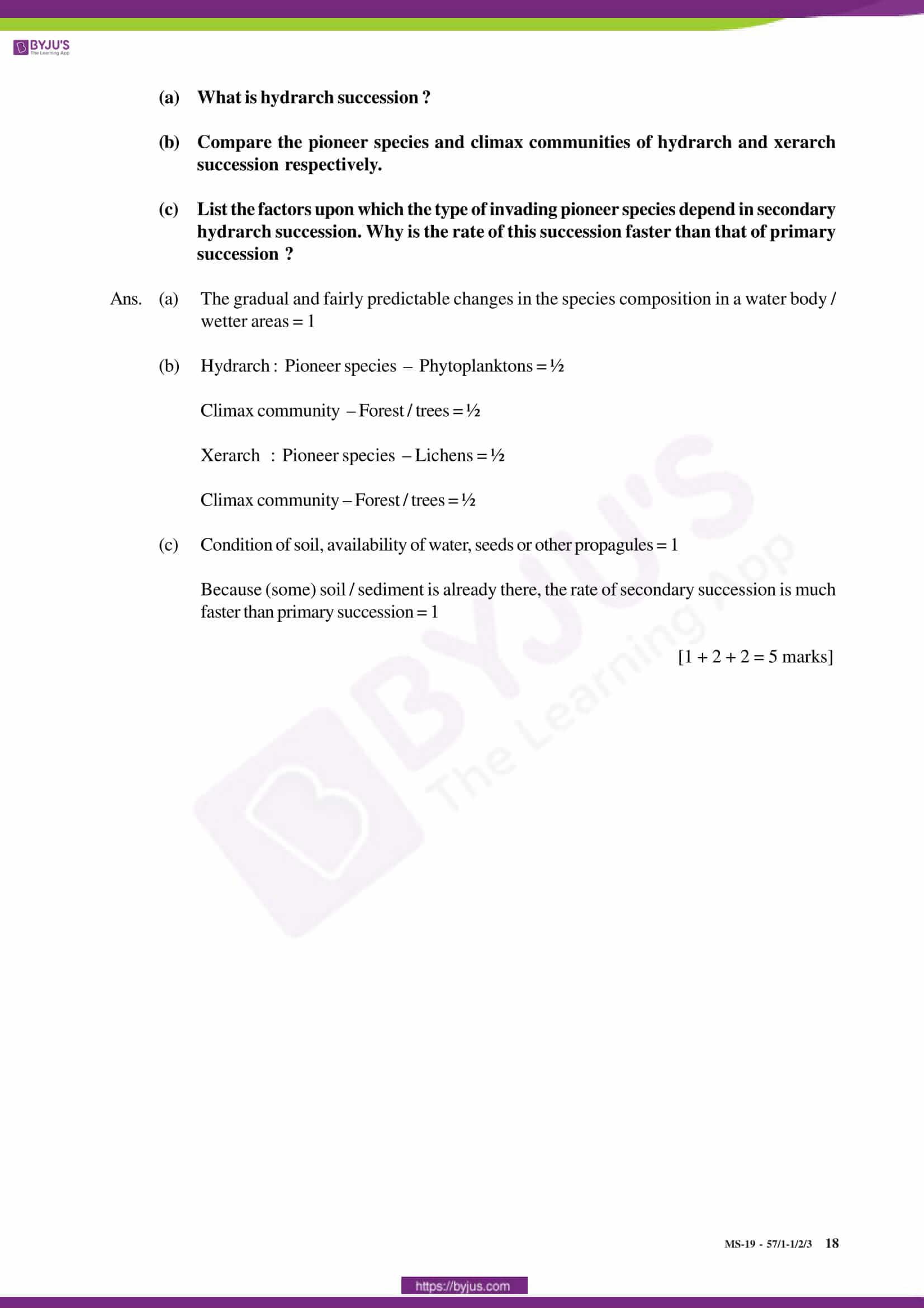 cbse class 12 solution 2019 bio set 1