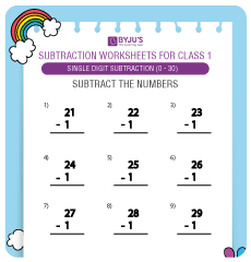 double digit subtraction worksheet 1