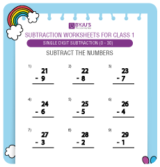 double digit subtraction worksheet 2