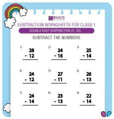 double digit subtraction worksheet 5