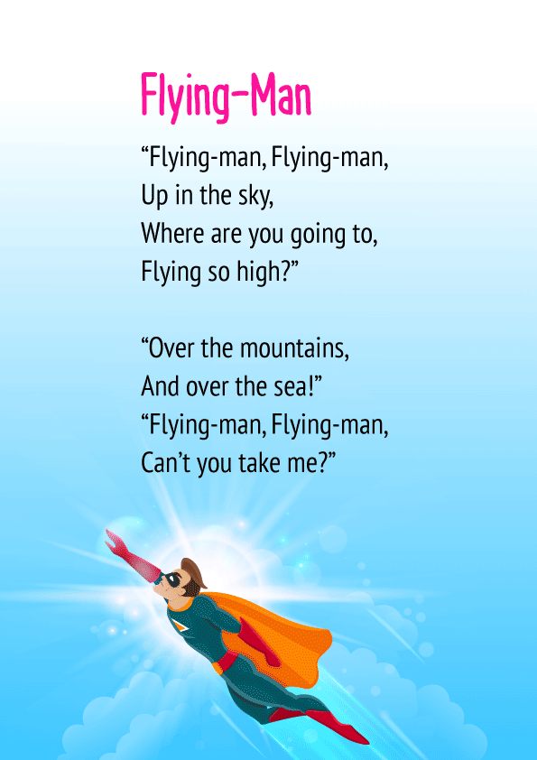 Flying Man Poem for Class 1
