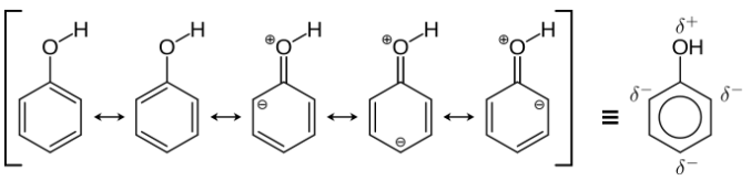 GOC Mesomeric Effect in Phenol