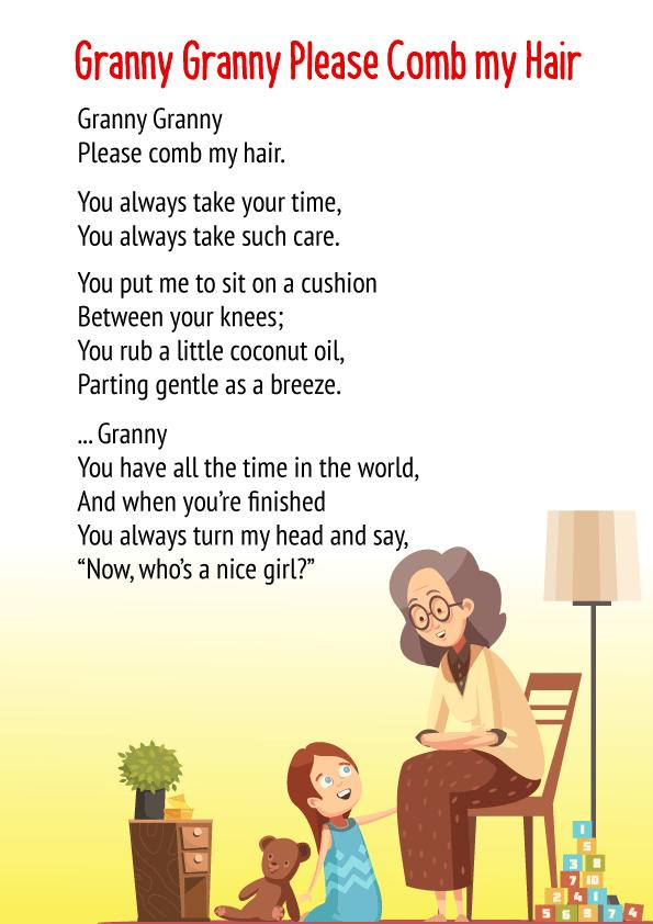 Granny Granny Please Comb My Hair Poem