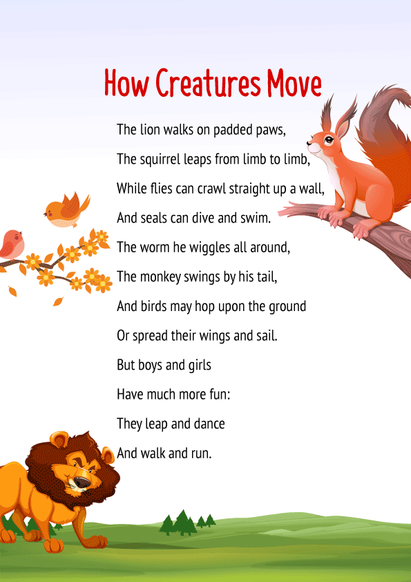 How Creatures Move Poem