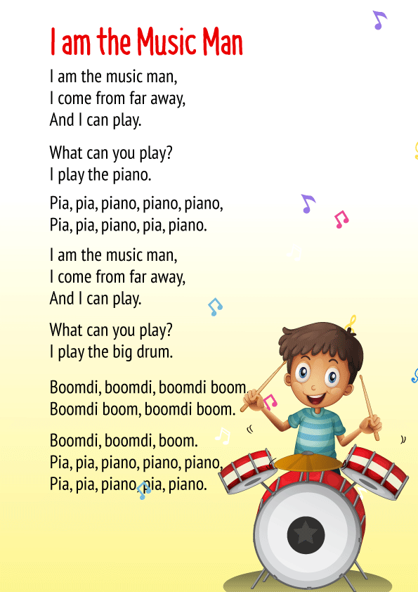 I am the Music Man Poem