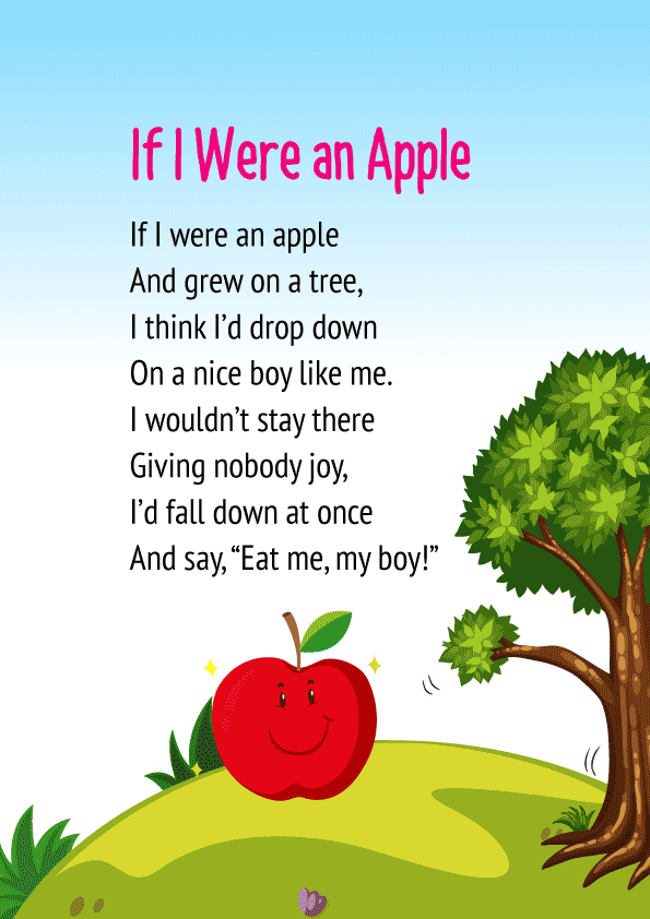 If I were an Apple Poem for class 1
