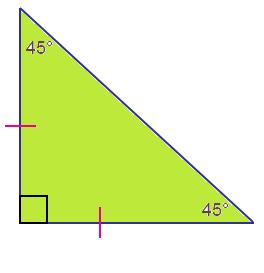 Isosceles Right Triangle Formula