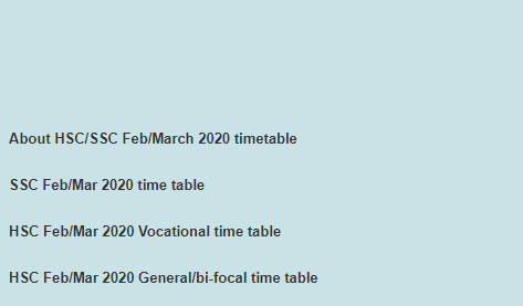 "Click on ""SSC Feb/Mar 2020 time table"" and download"