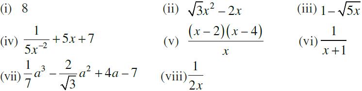 NCERT Exemplar Class 9 Maths Chapter 2- Ex. 2.2-1