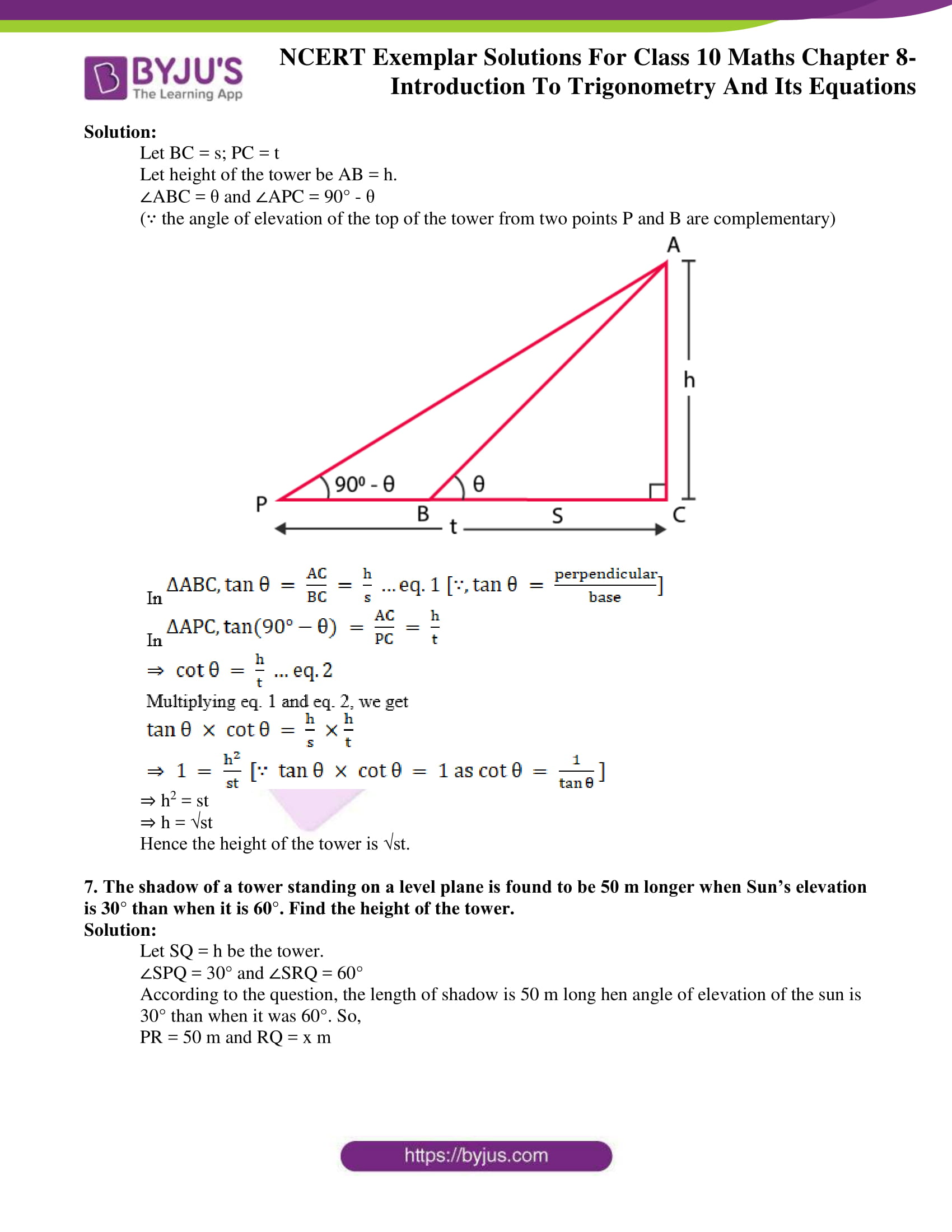ncert exemplar solution for class 10 maths chapter 8
