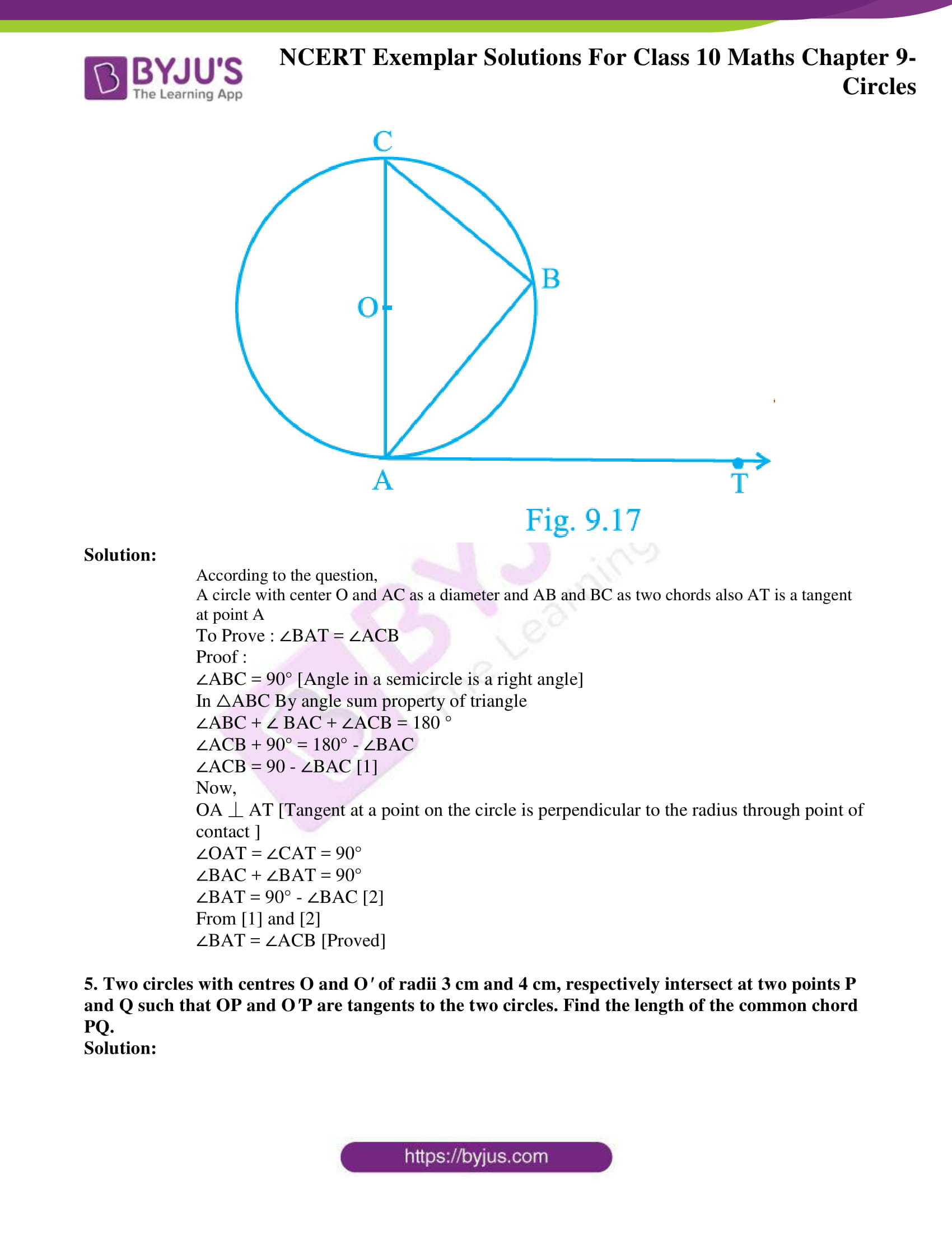 ncert exemplar solution for class 10 maths chapter 9