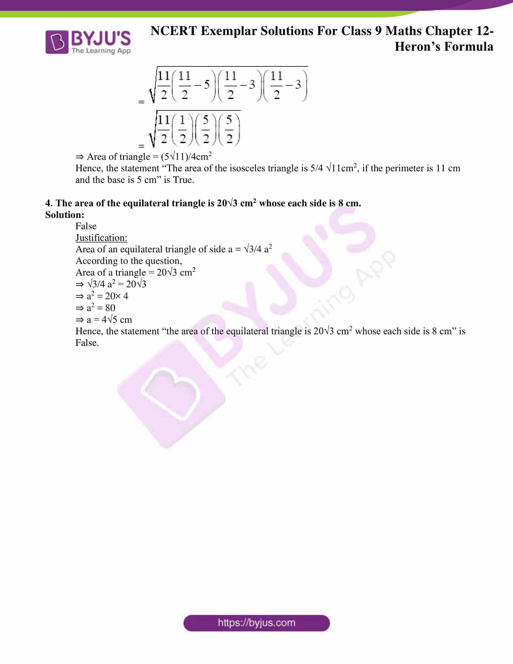 ncert exemplar solution class 9 maths chapter 12