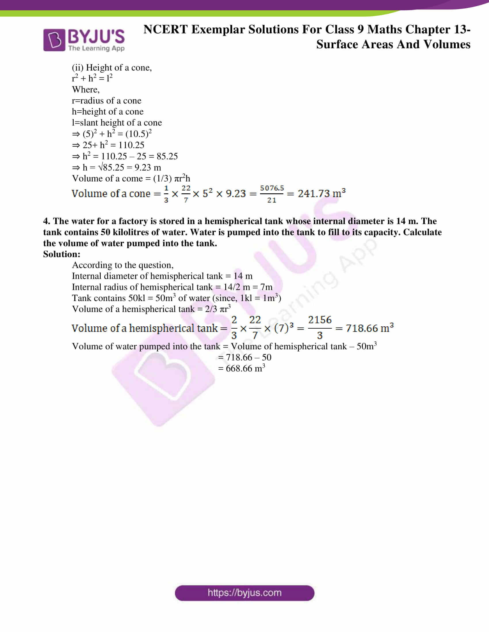 ncert exemplar solution class 9 maths chapter 13