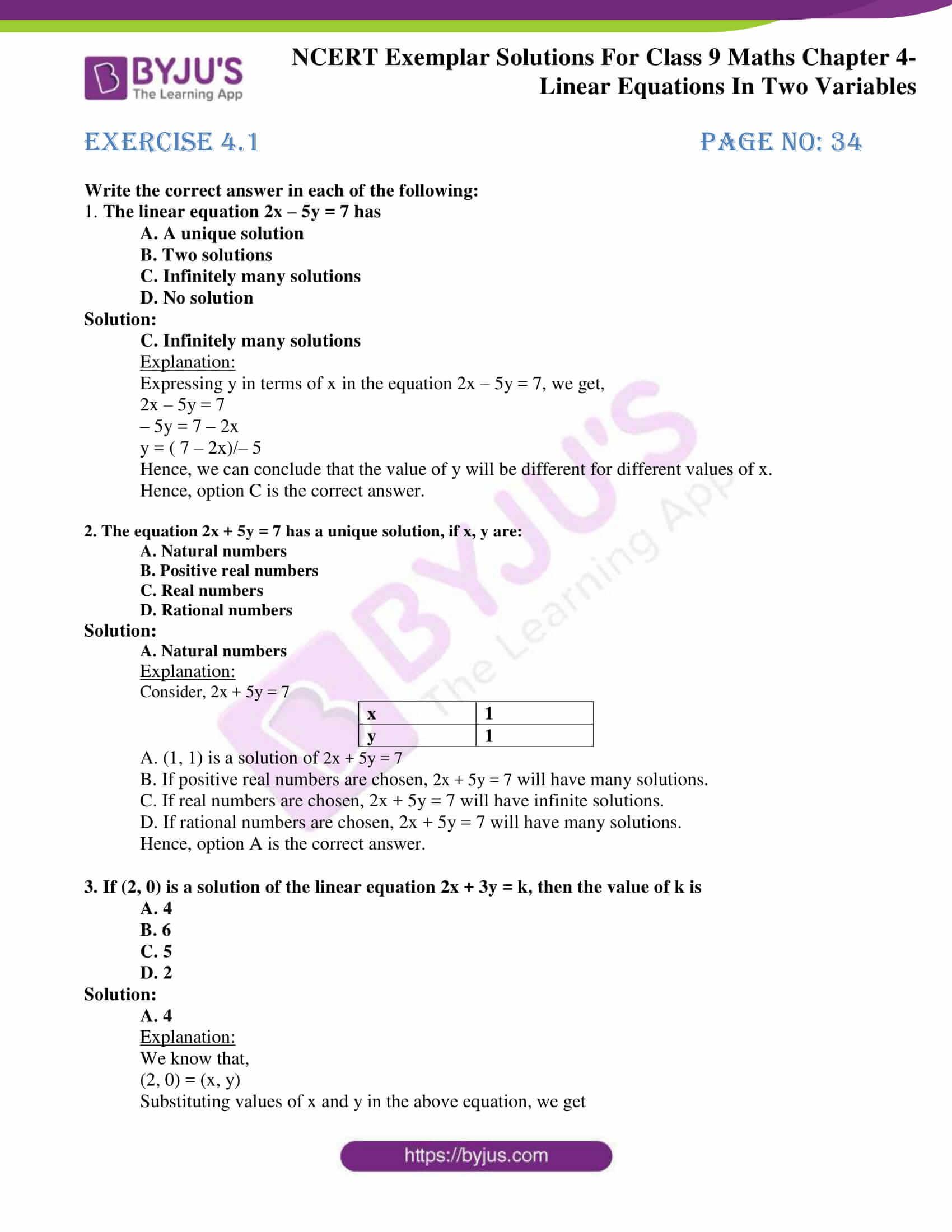 ncert exemplar solution class 9 maths chapter 4