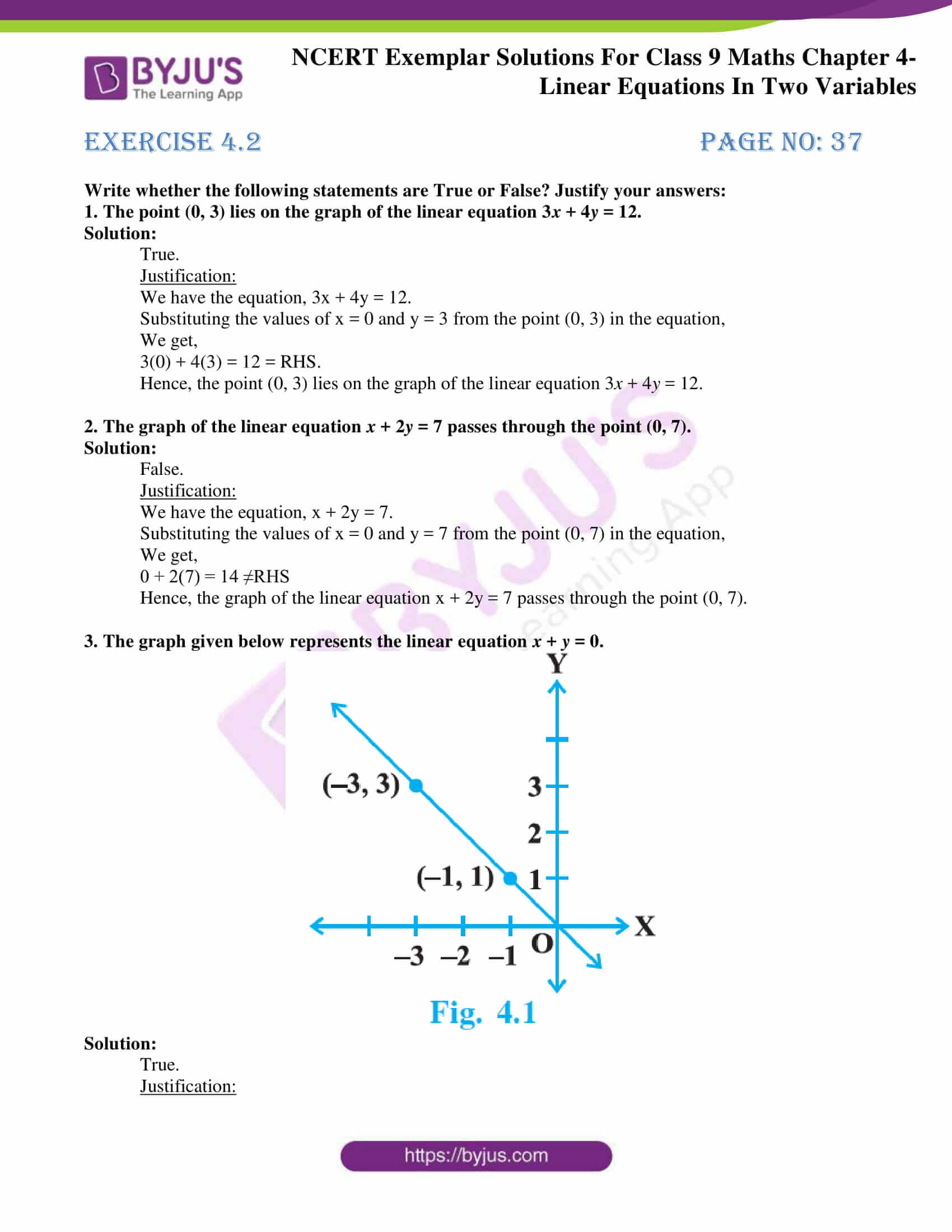 ncert exemplar solution class 9 maths chapter 4